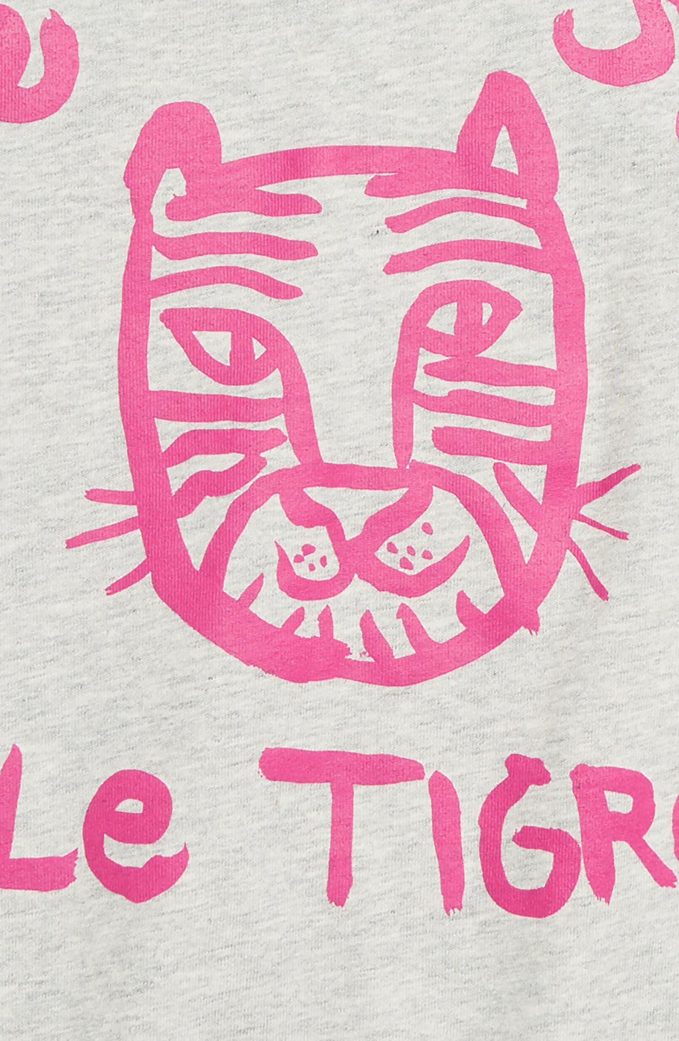 Le Tigre Raglan Tunic,                             Alternate thumbnail 2, color,                             LIGHT GREY HEATHER