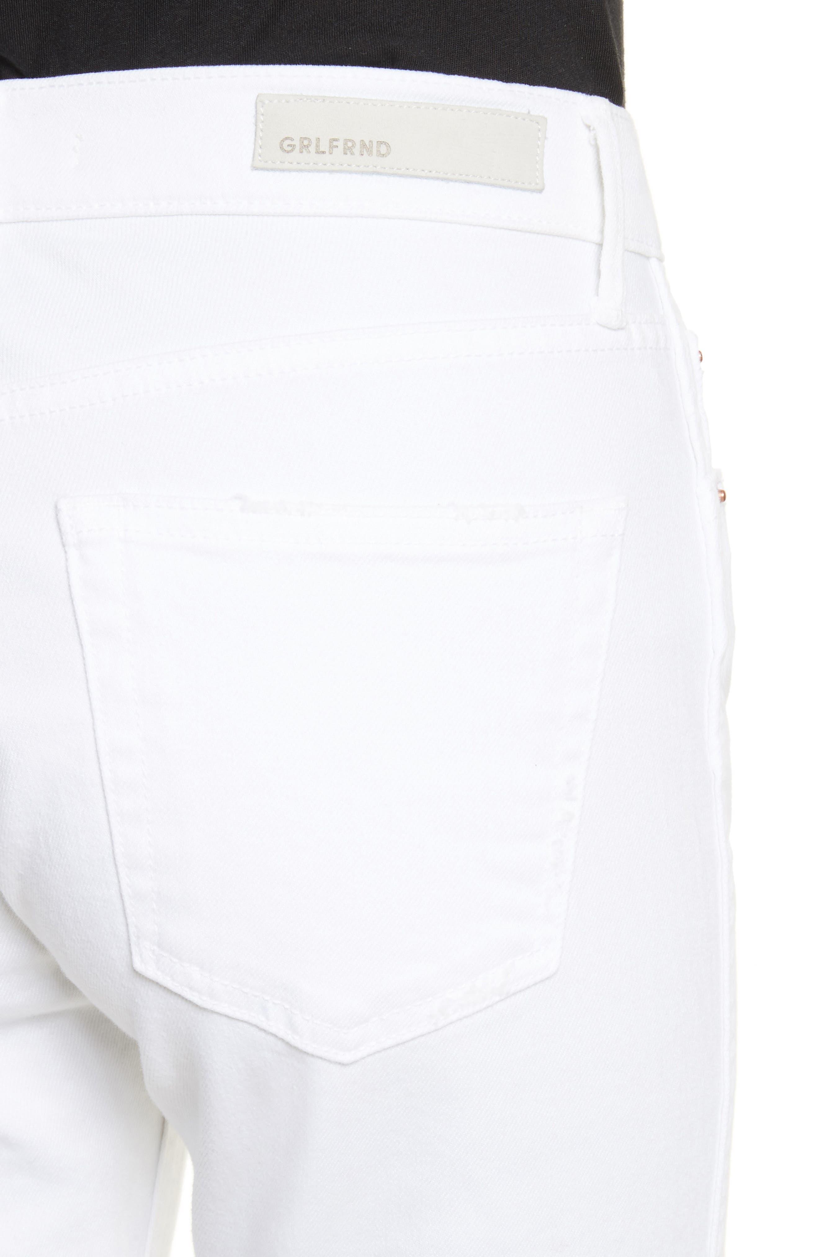 Naomi High Waist Skinny Jeans,                             Alternate thumbnail 4, color,                             100