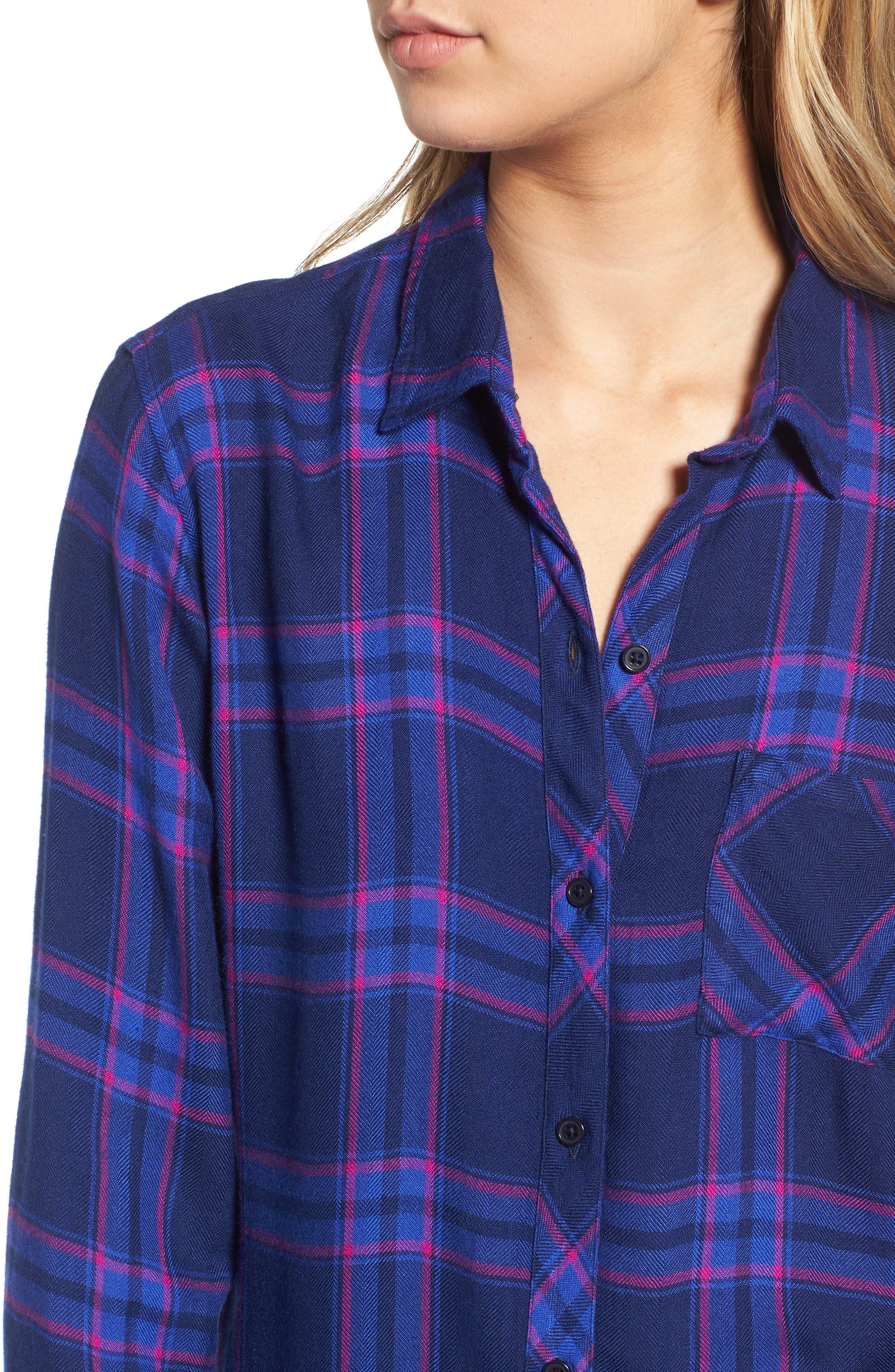 Hunter Plaid Shirt,                             Alternate thumbnail 424, color,