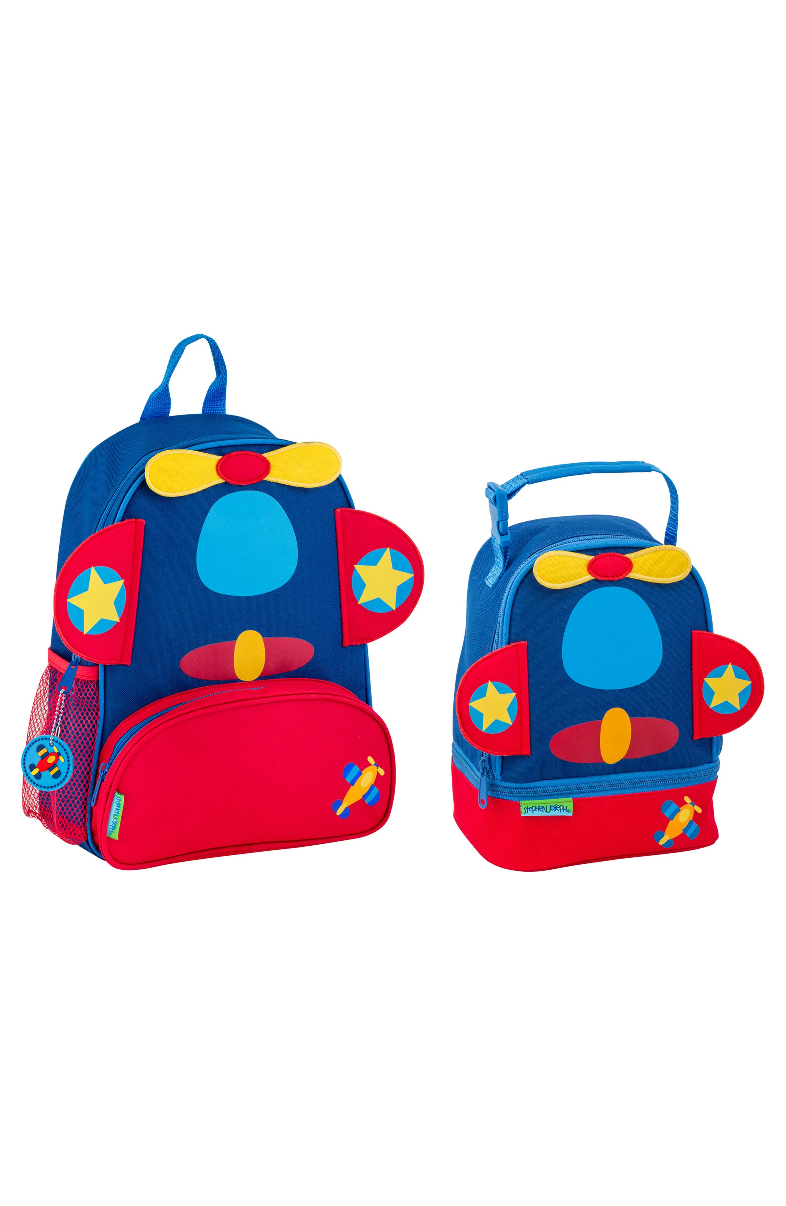 Airplane Sidekick Backpack & Lunch Pal, Main, color, AIRPLANE