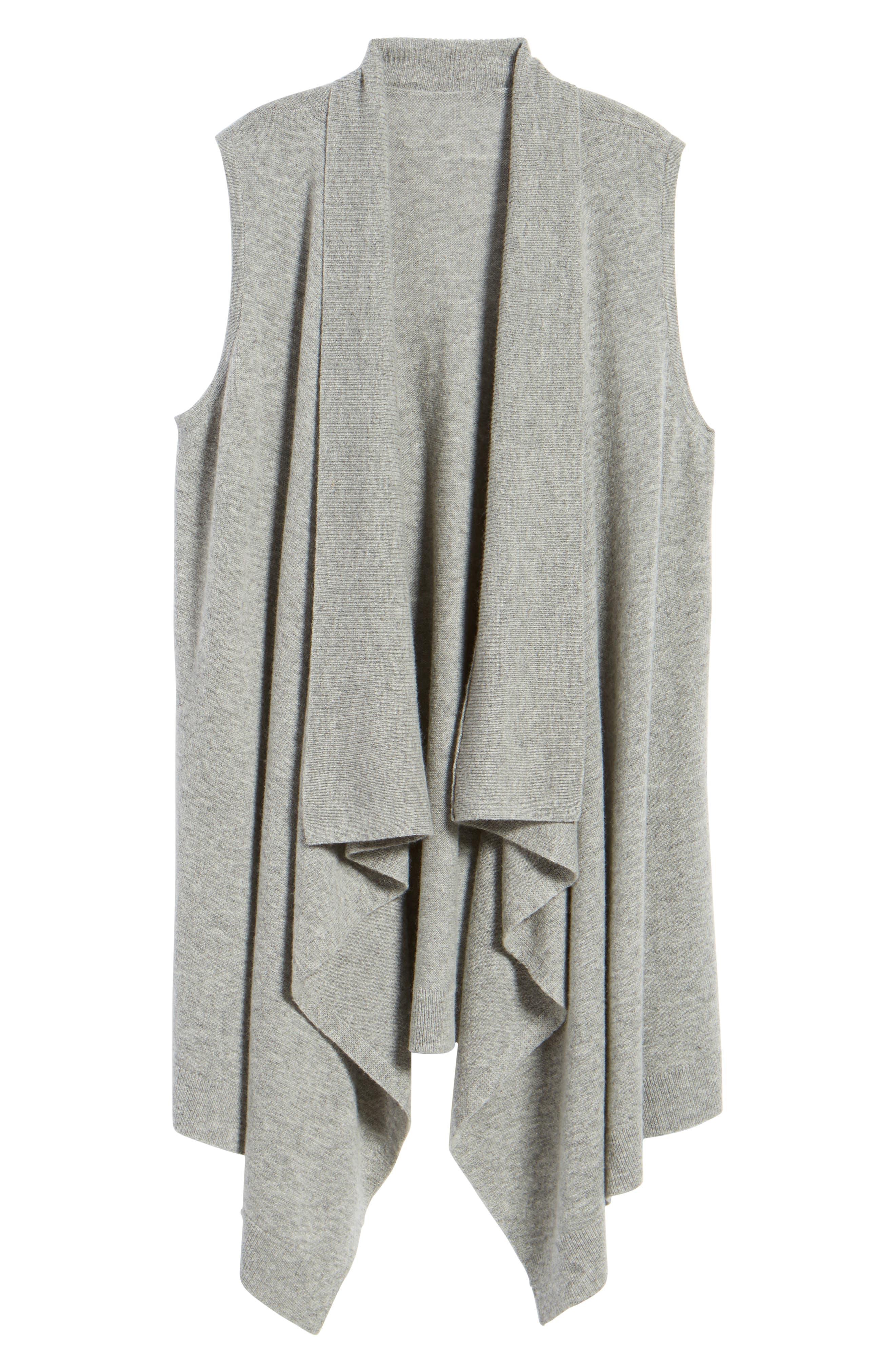 Wool & Cashmere Drape Front Sweater Vest,                             Alternate thumbnail 45, color,