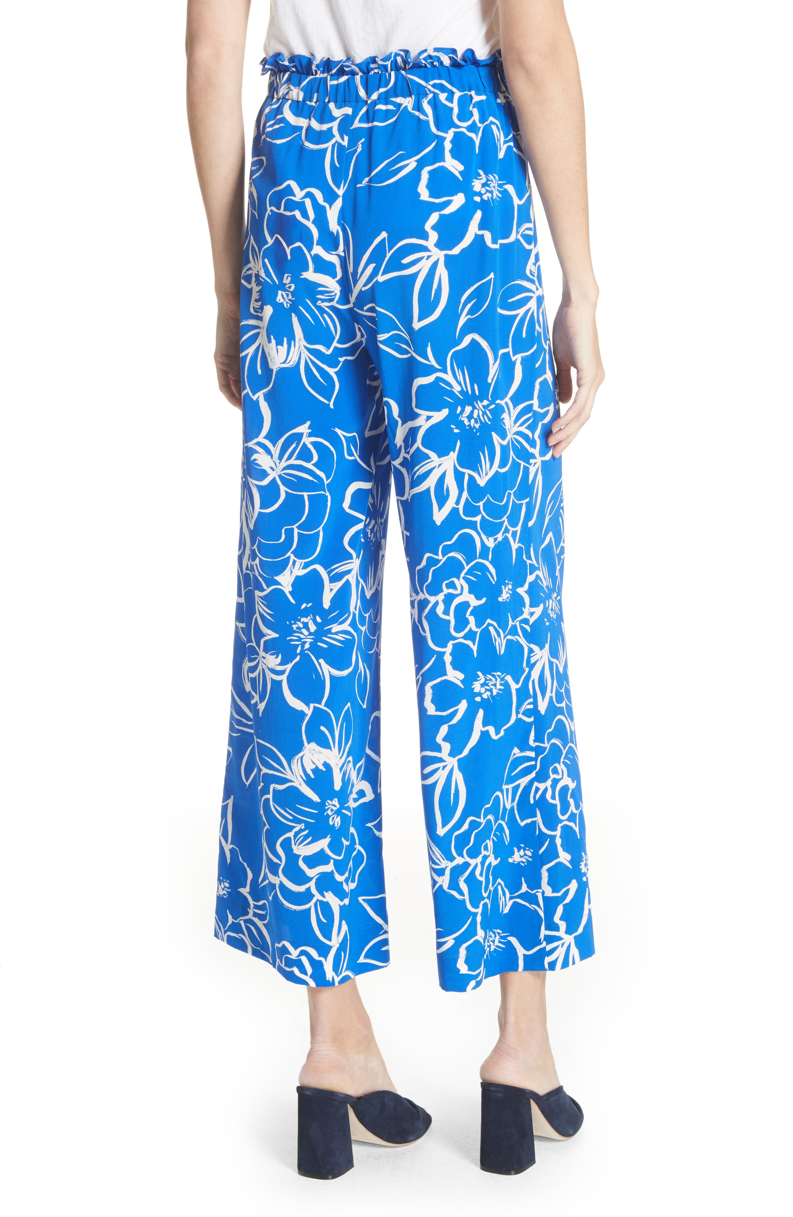 Floral Crop Pants,                             Alternate thumbnail 2, color,                             406