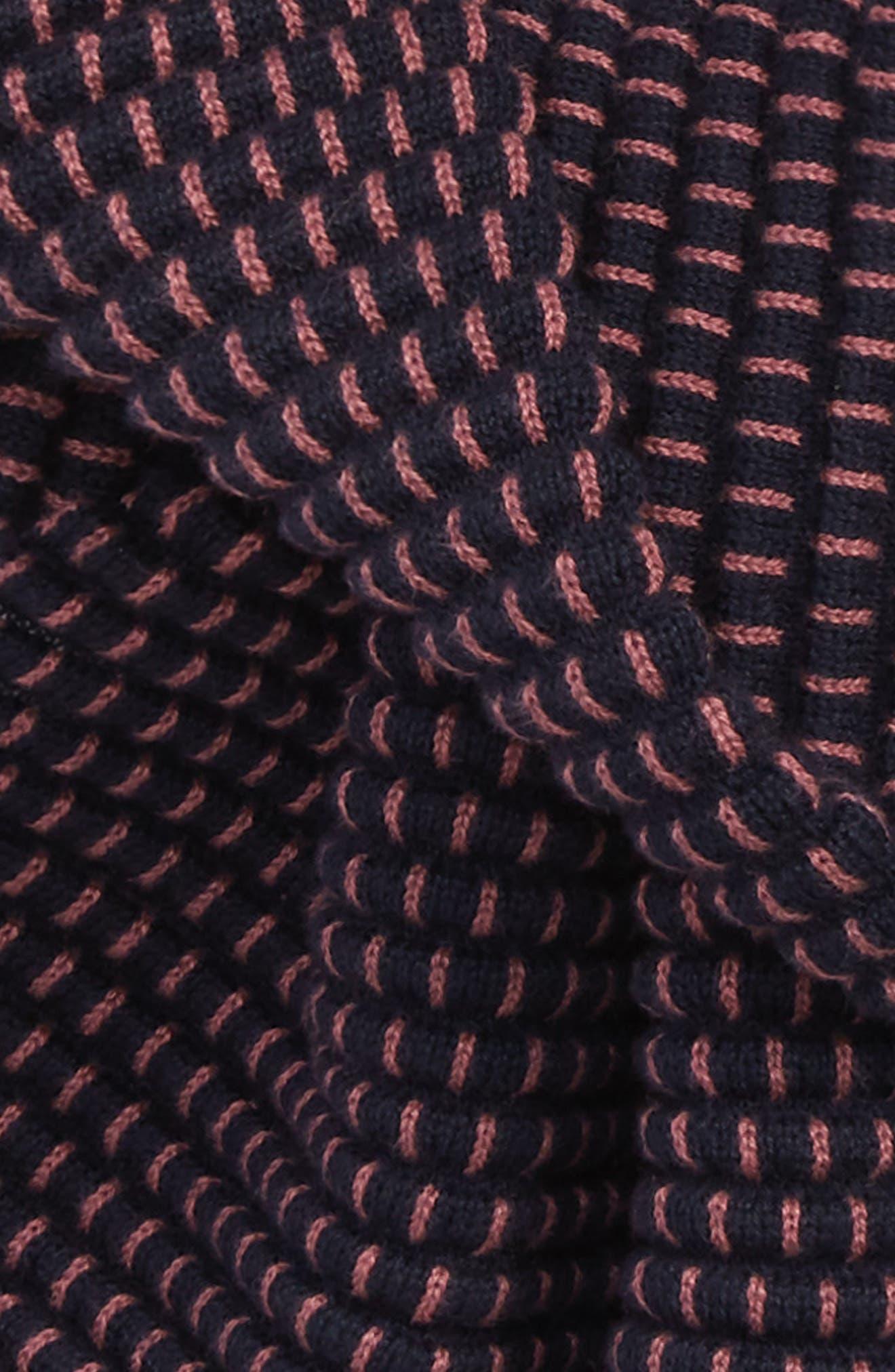 Ottoman Rib Knit Scarf,                             Alternate thumbnail 3, color,                             660