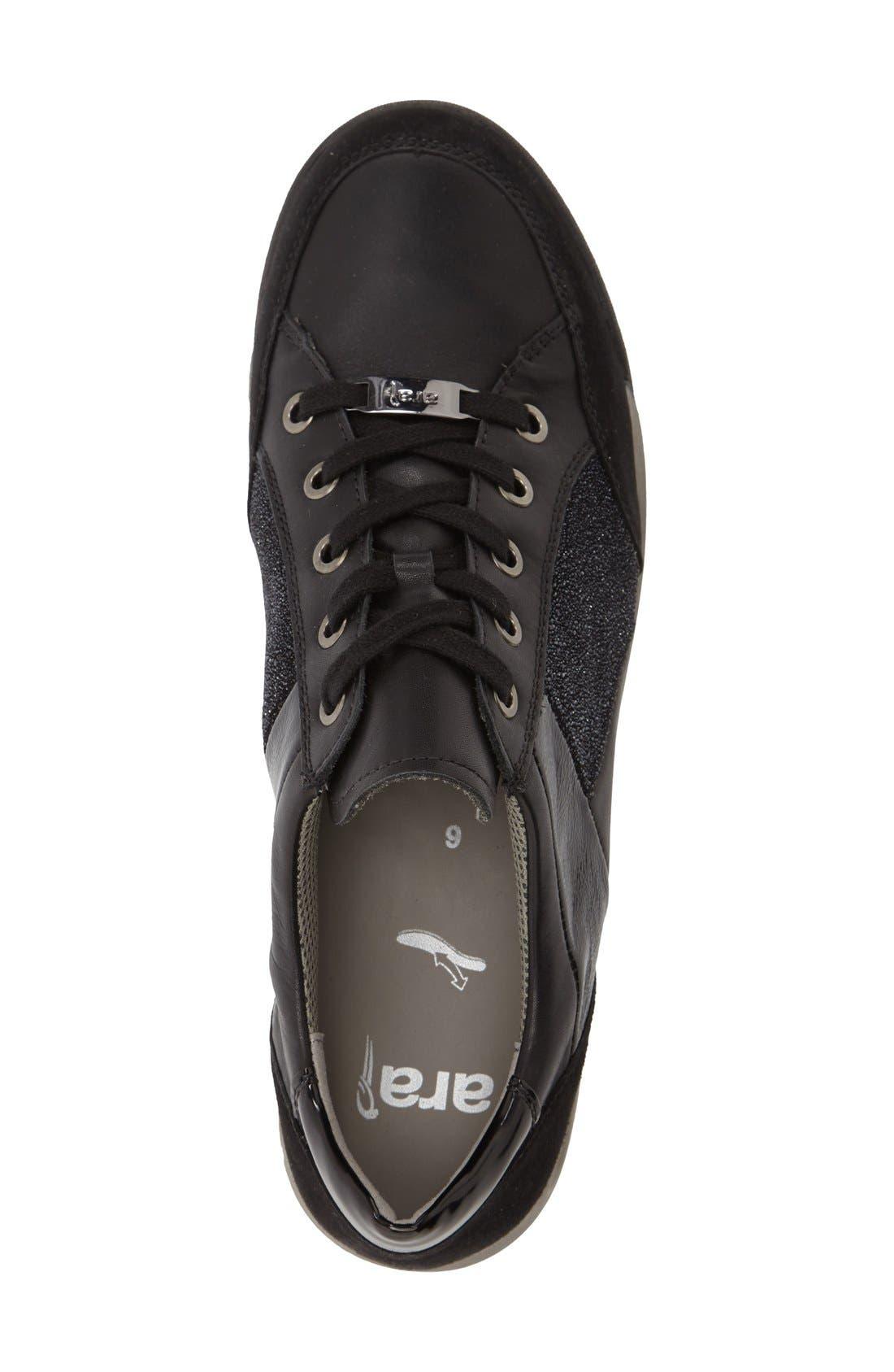 Rina Sneaker,                             Alternate thumbnail 3, color,                             BLACK SUEDE