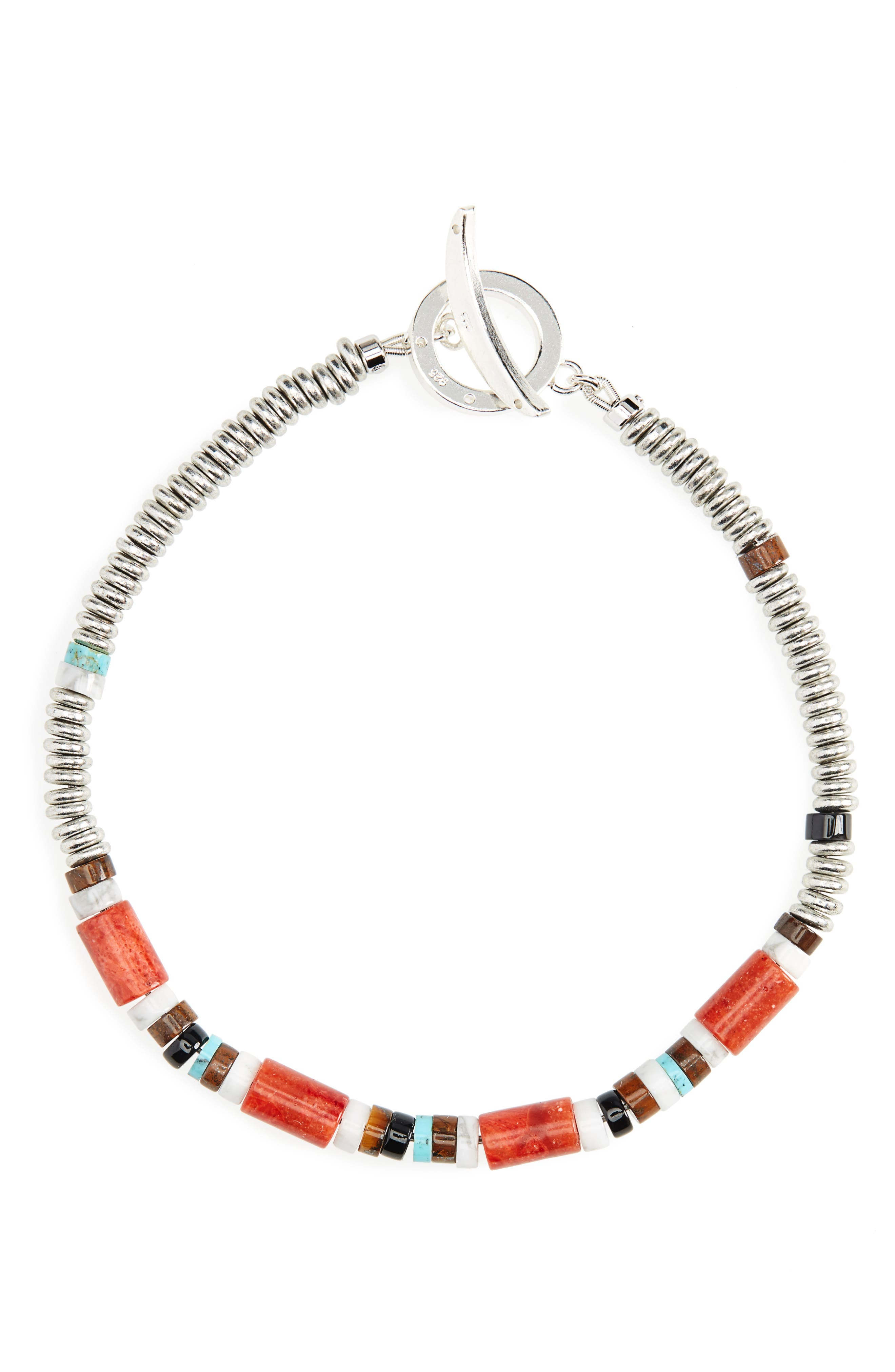 MIKIA Bead Bracelet in Coral