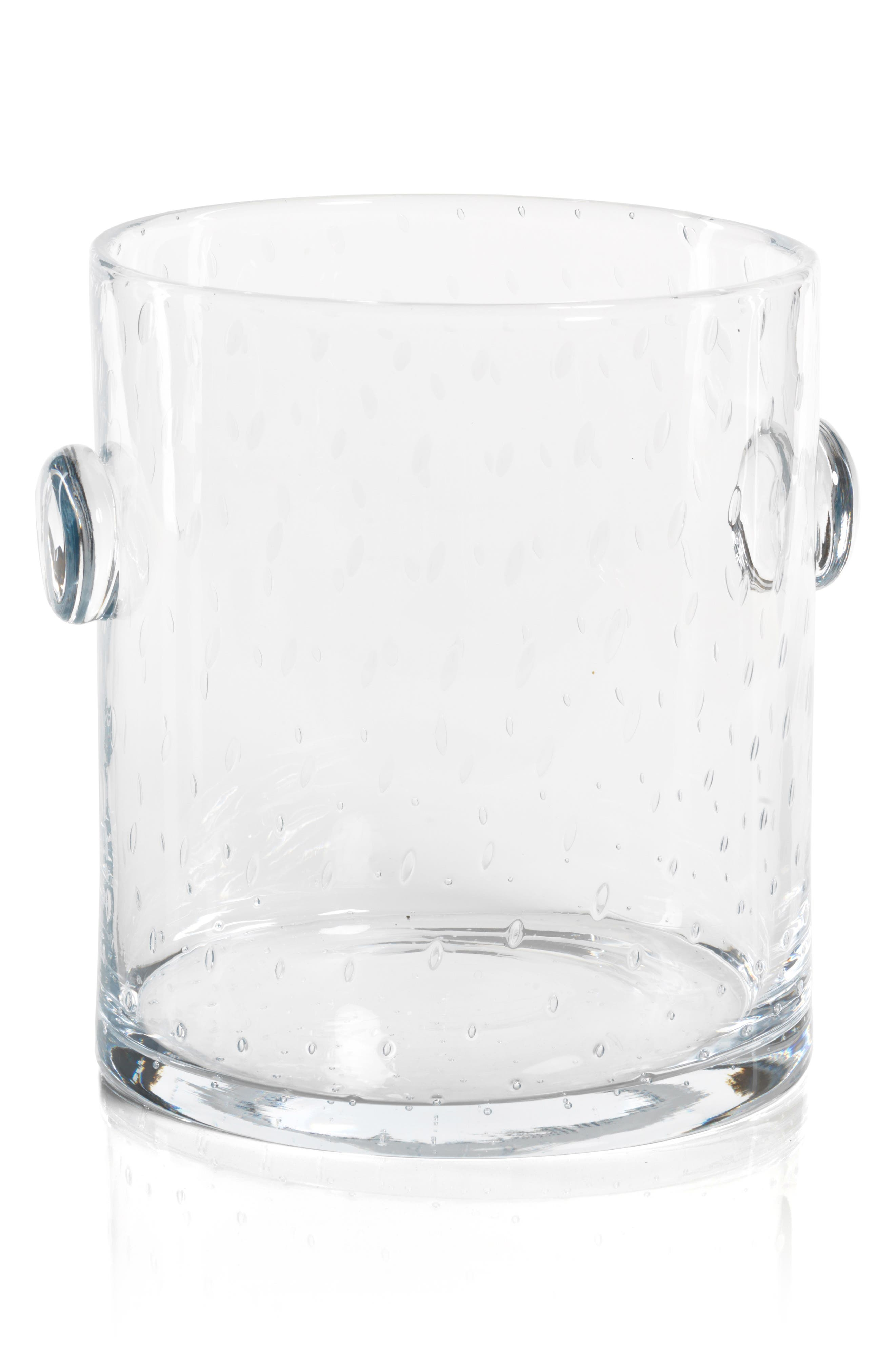 Lagoon Bubbled Glass Ice Bucket,                         Main,                         color, CLEAR