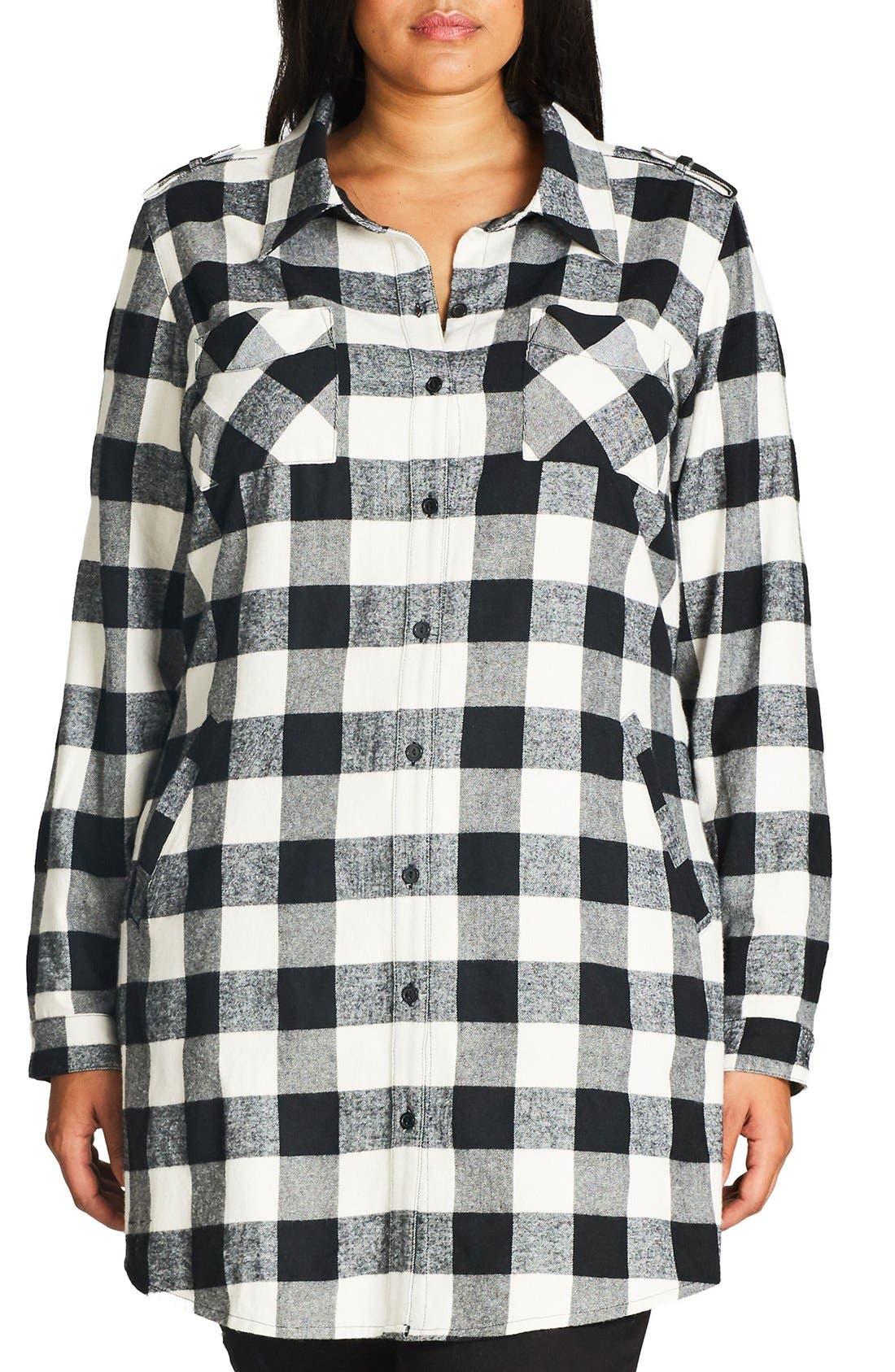 Plaid Boyfriend Shirt,                             Main thumbnail 2, color,