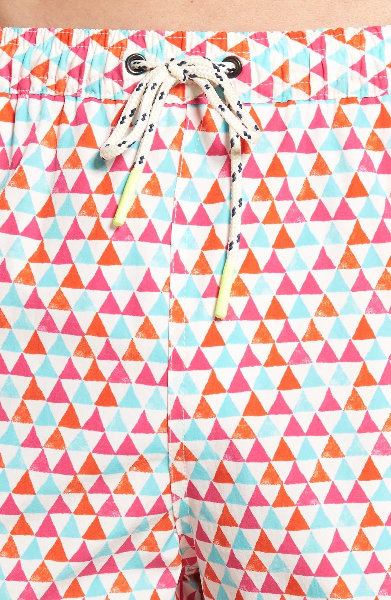 Printer Swim Trunks,                             Alternate thumbnail 8, color,