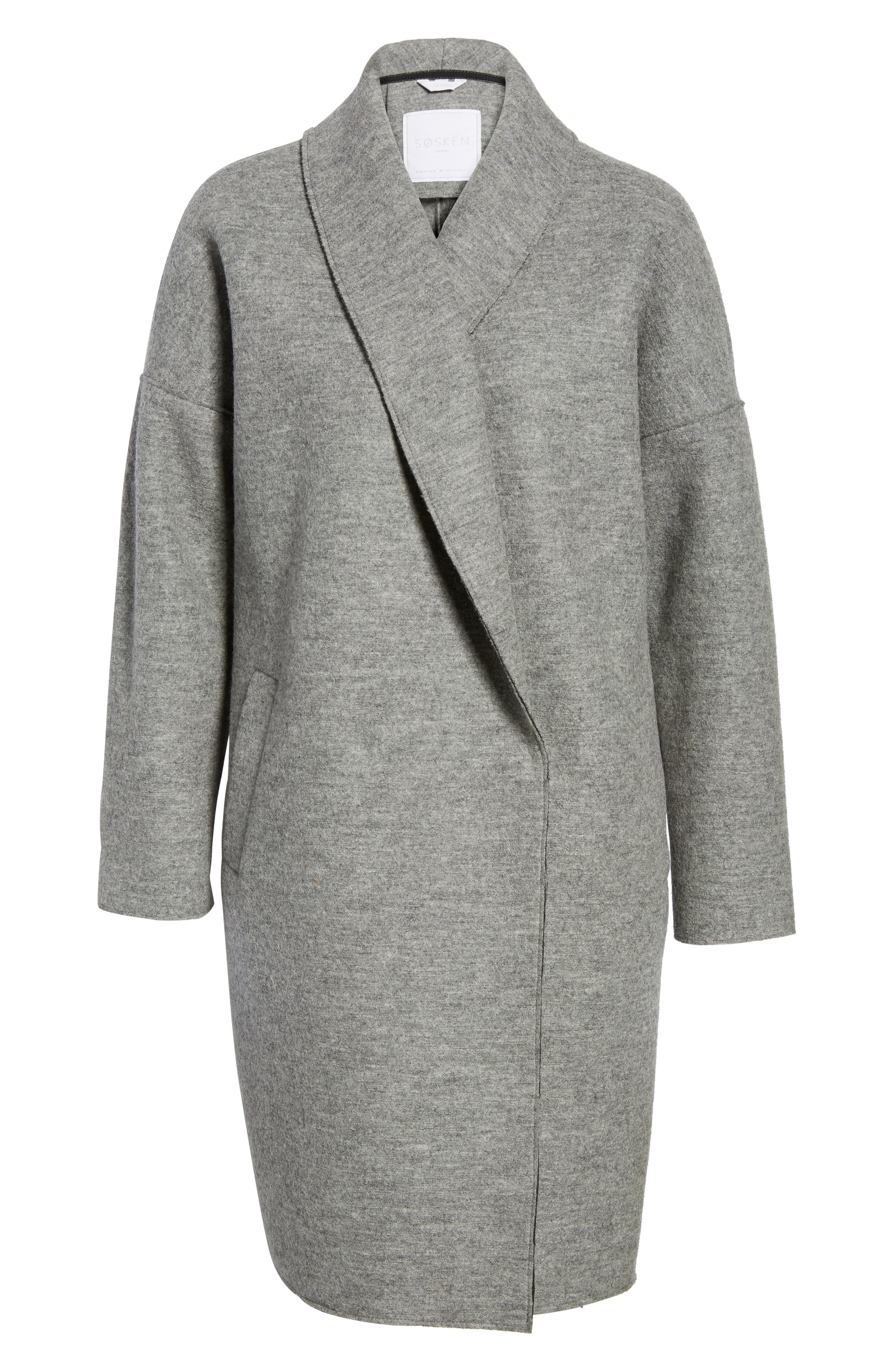 Emma Boiled Wool Coat,                             Alternate thumbnail 5, color,                             020