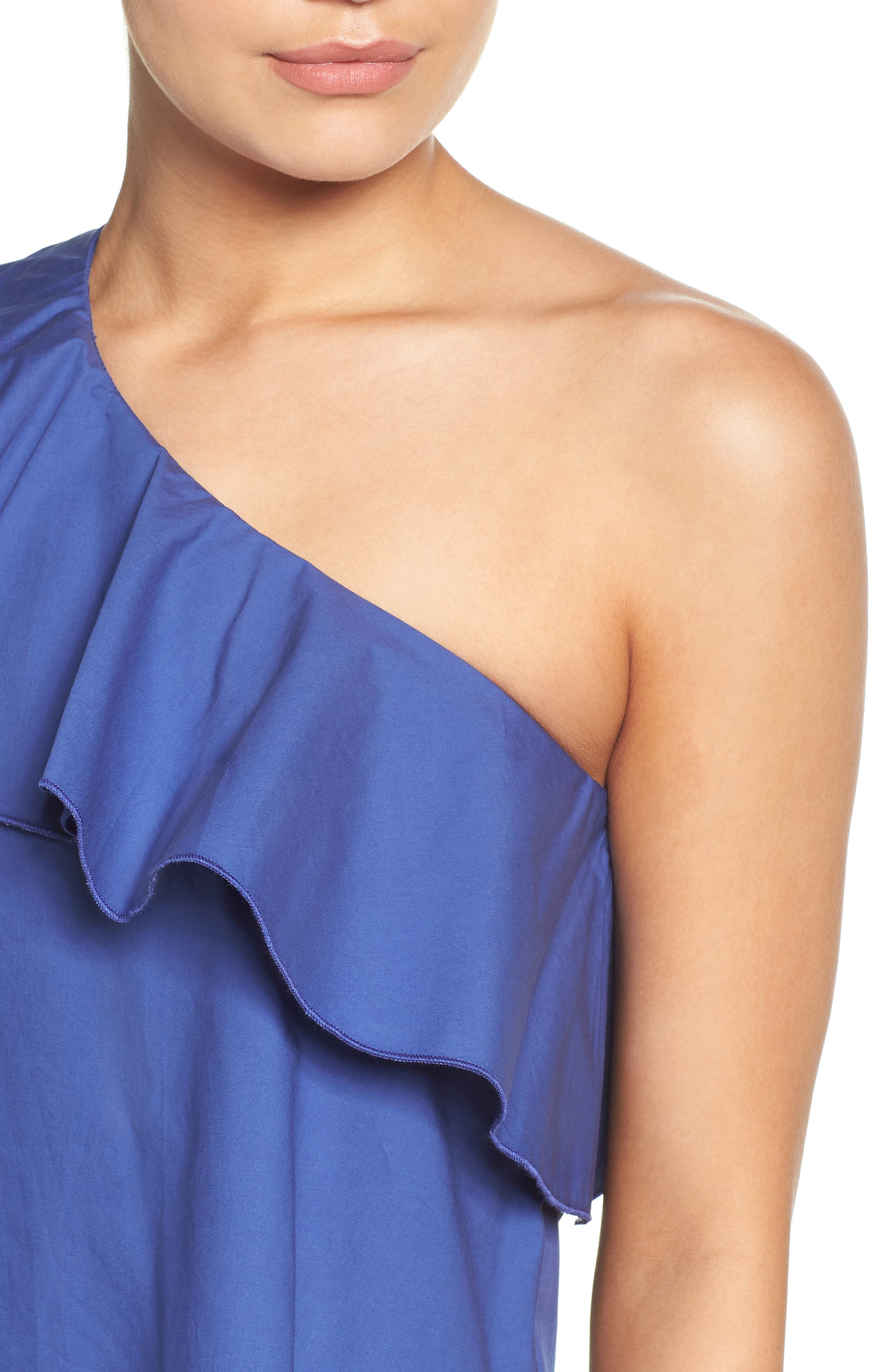 One-Shoulder Ruffle Dress,                             Alternate thumbnail 12, color,