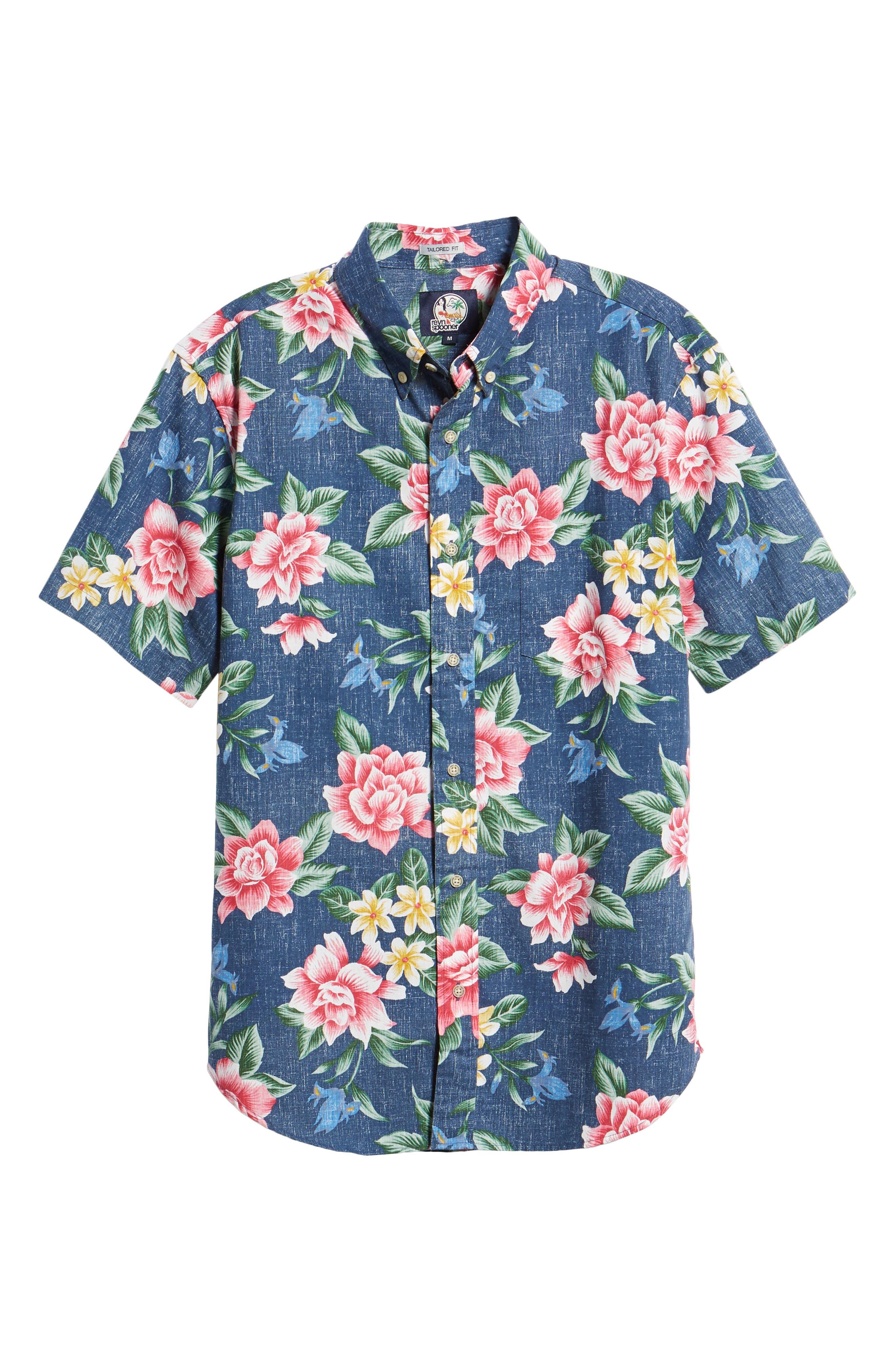 Hou Pua Nui Regular Fit Sport Shirt,                             Alternate thumbnail 5, color,                             INK
