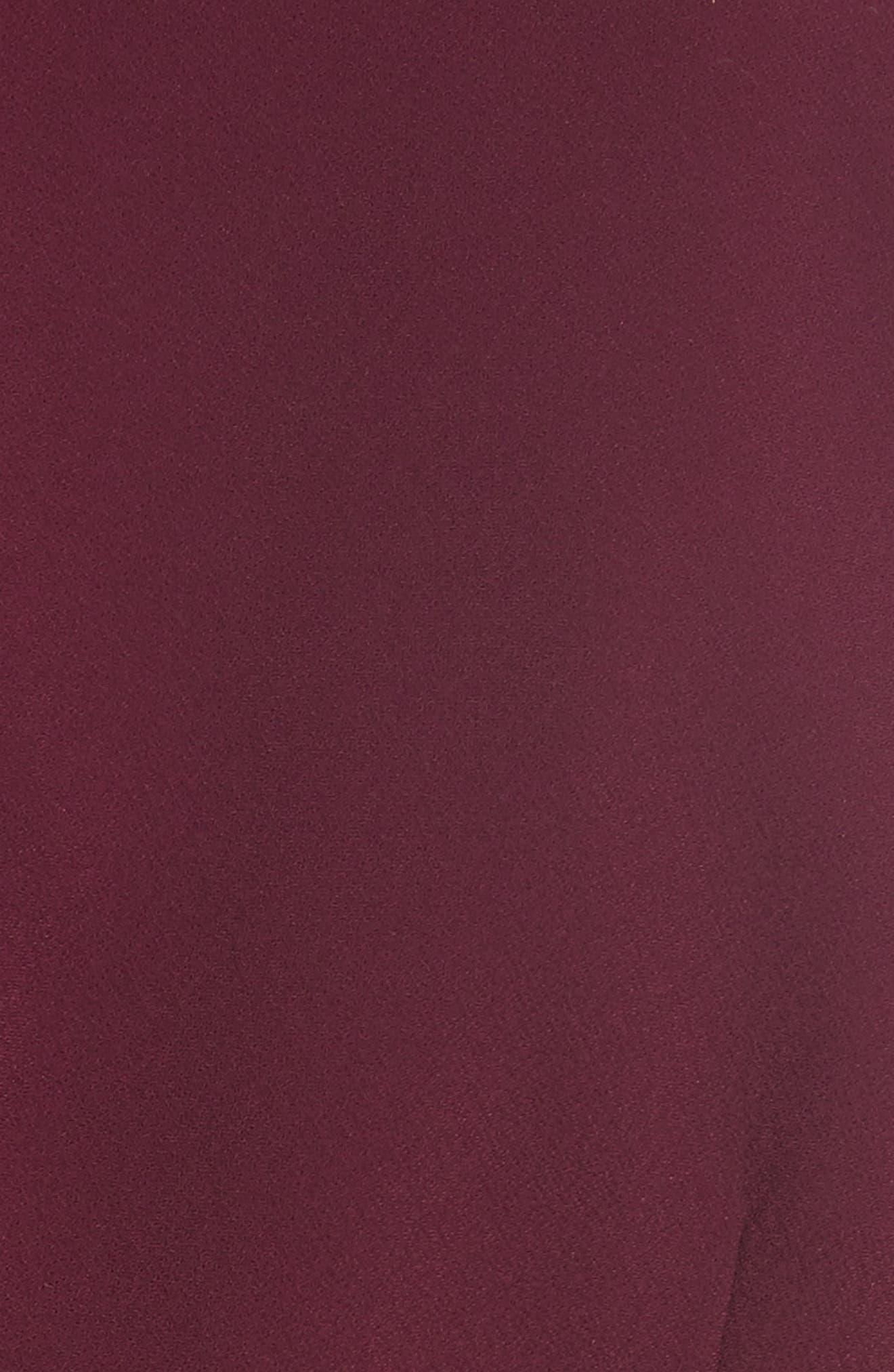 ruffle trim fit & flare dress,                             Alternate thumbnail 5, color,                             934