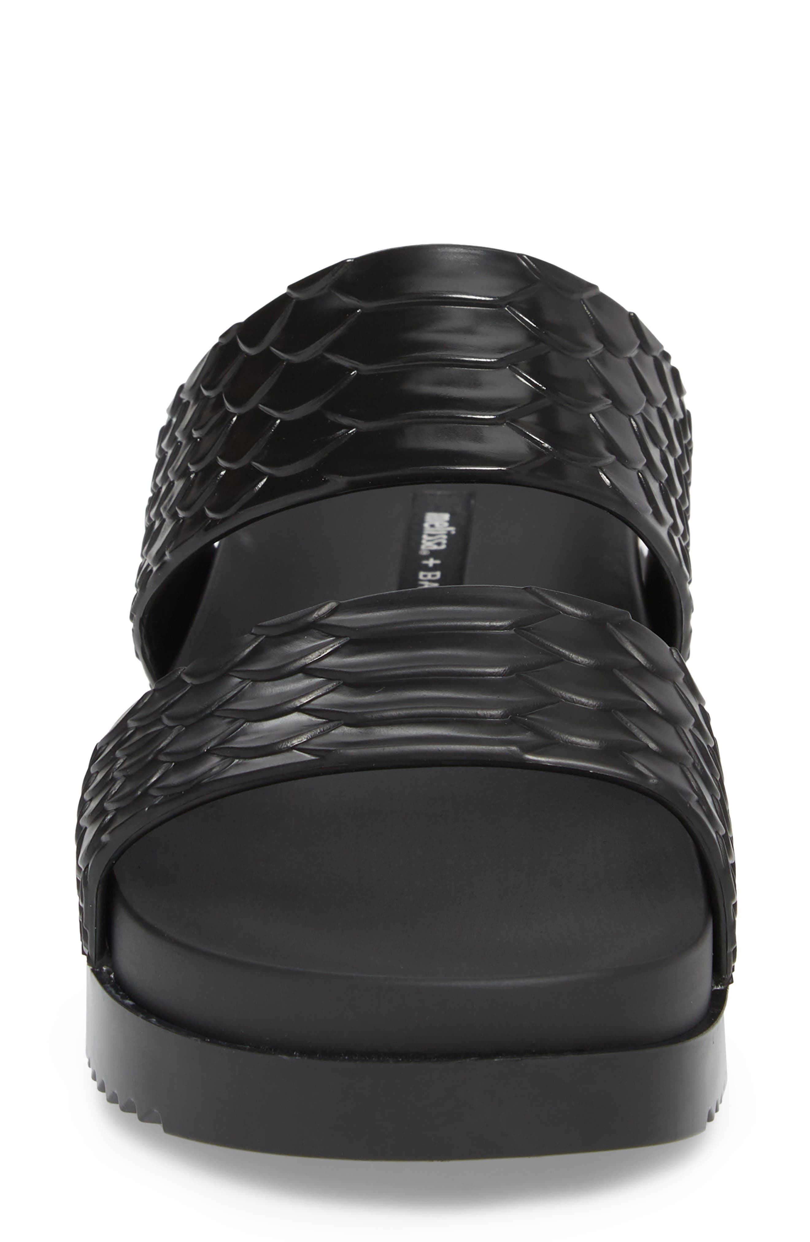Cosmic Python Baja Slide Sandal,                             Alternate thumbnail 4, color,                             001