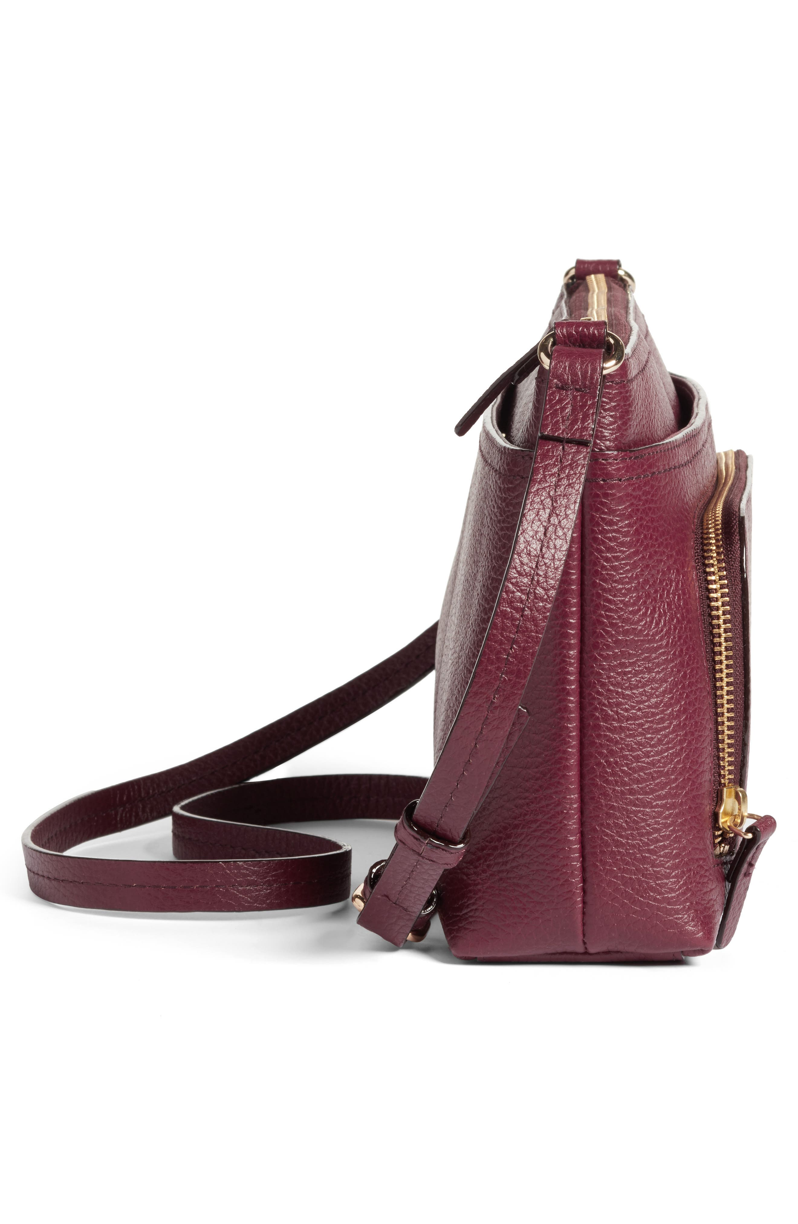 Pebbled Leather Crossbody Bag,                             Alternate thumbnail 20, color,