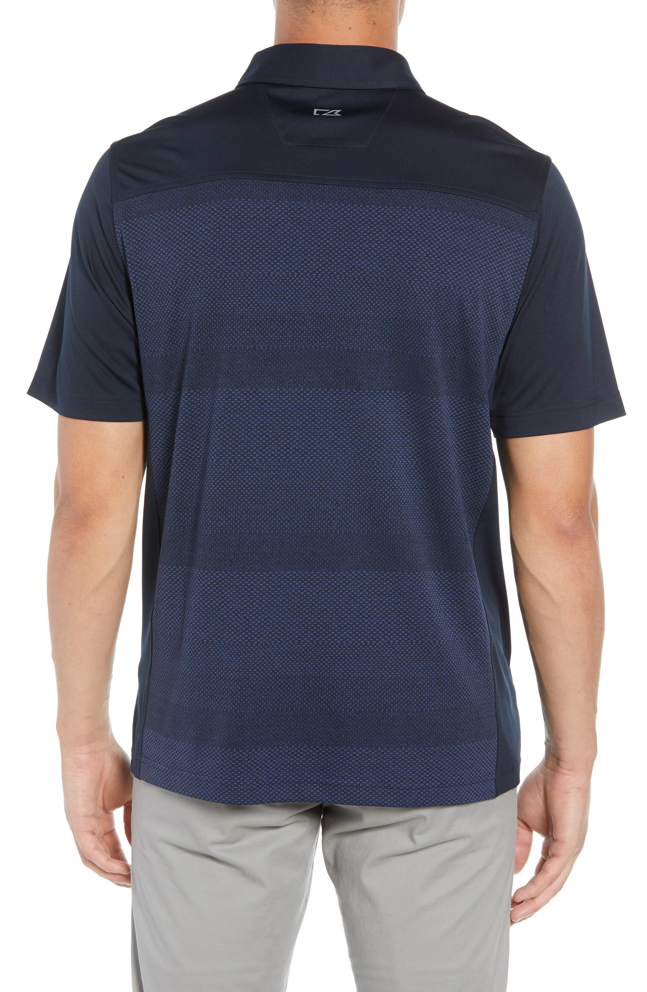 Crescent DryTec Microprint Polo,                             Alternate thumbnail 2, color,                             LIBERTY NAVY