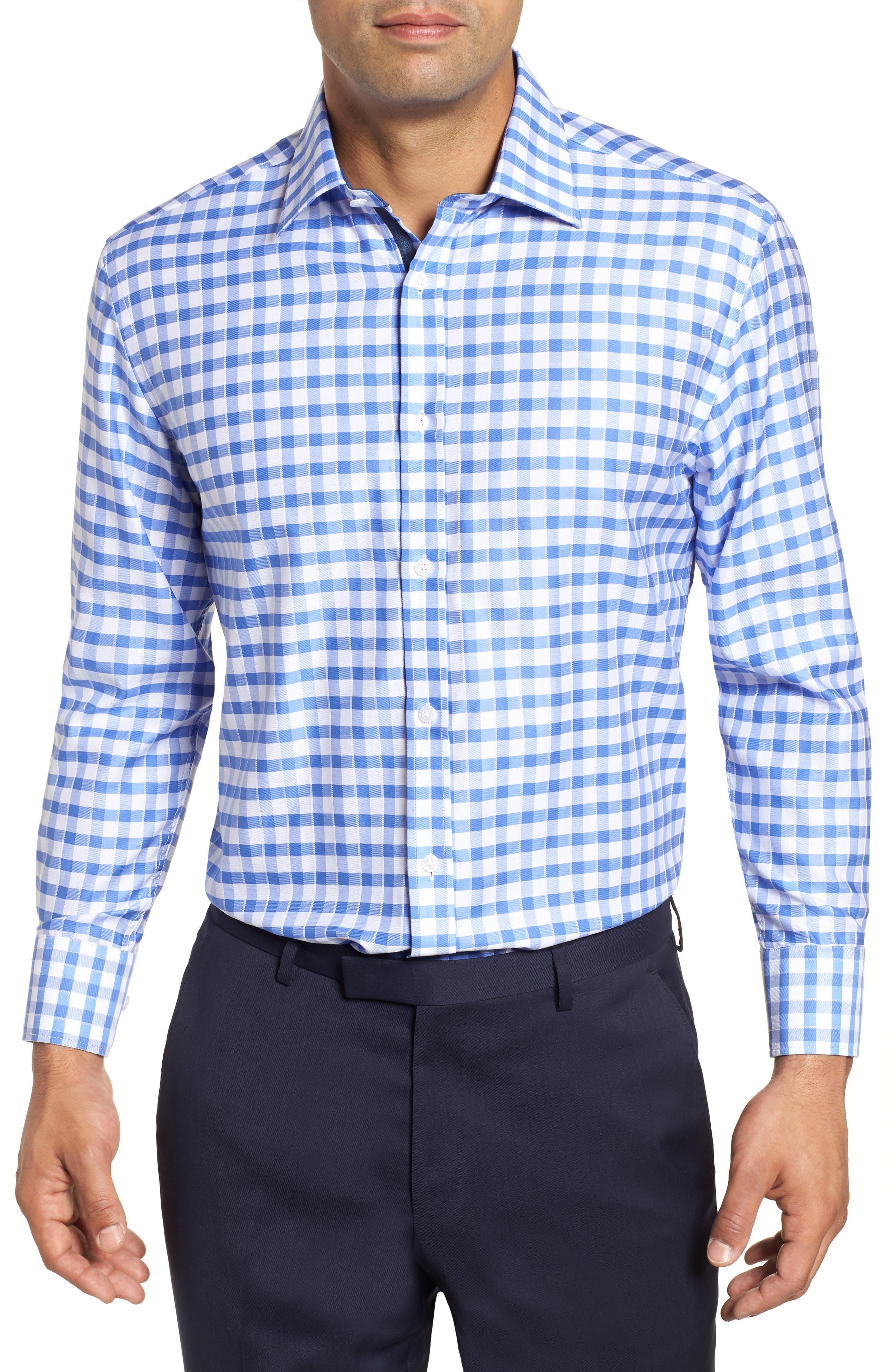 Regular Fit Check Dress Shirt,                             Main thumbnail 1, color,                             410