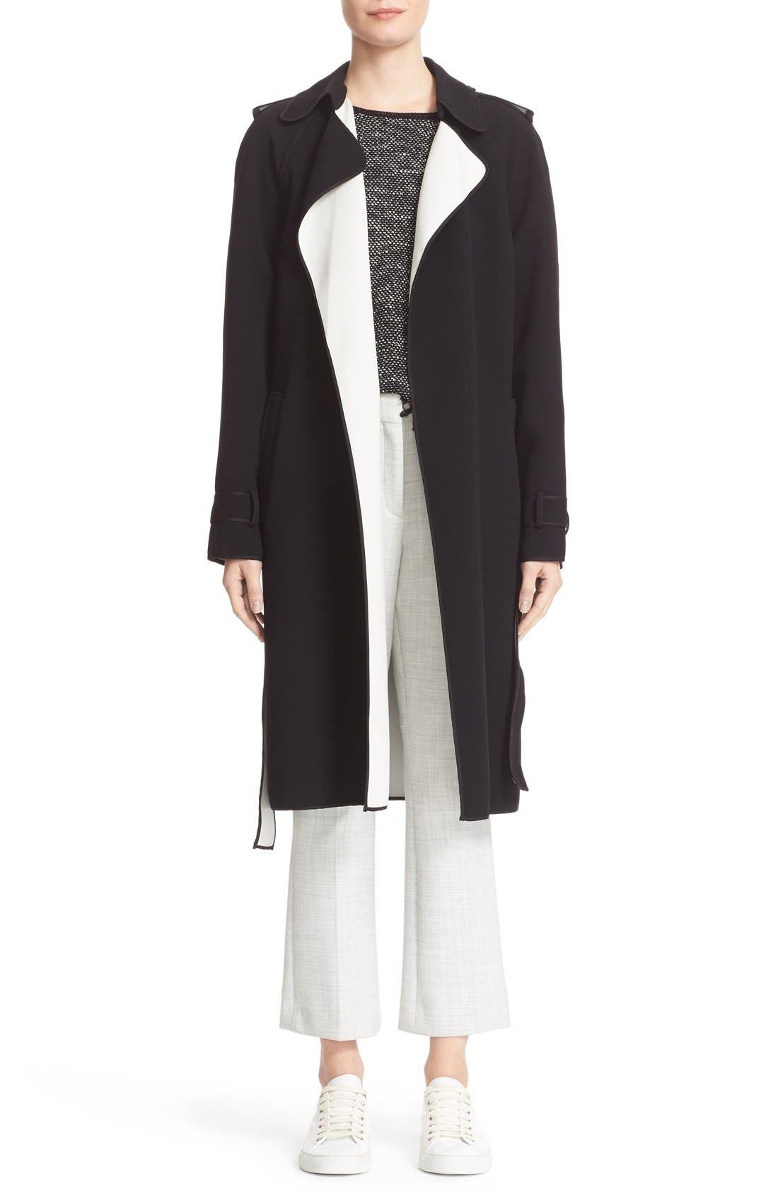 THEORY,                             'Erstina Pioneer' Crop Flare Leg Trousers,                             Alternate thumbnail 3, color,                             050