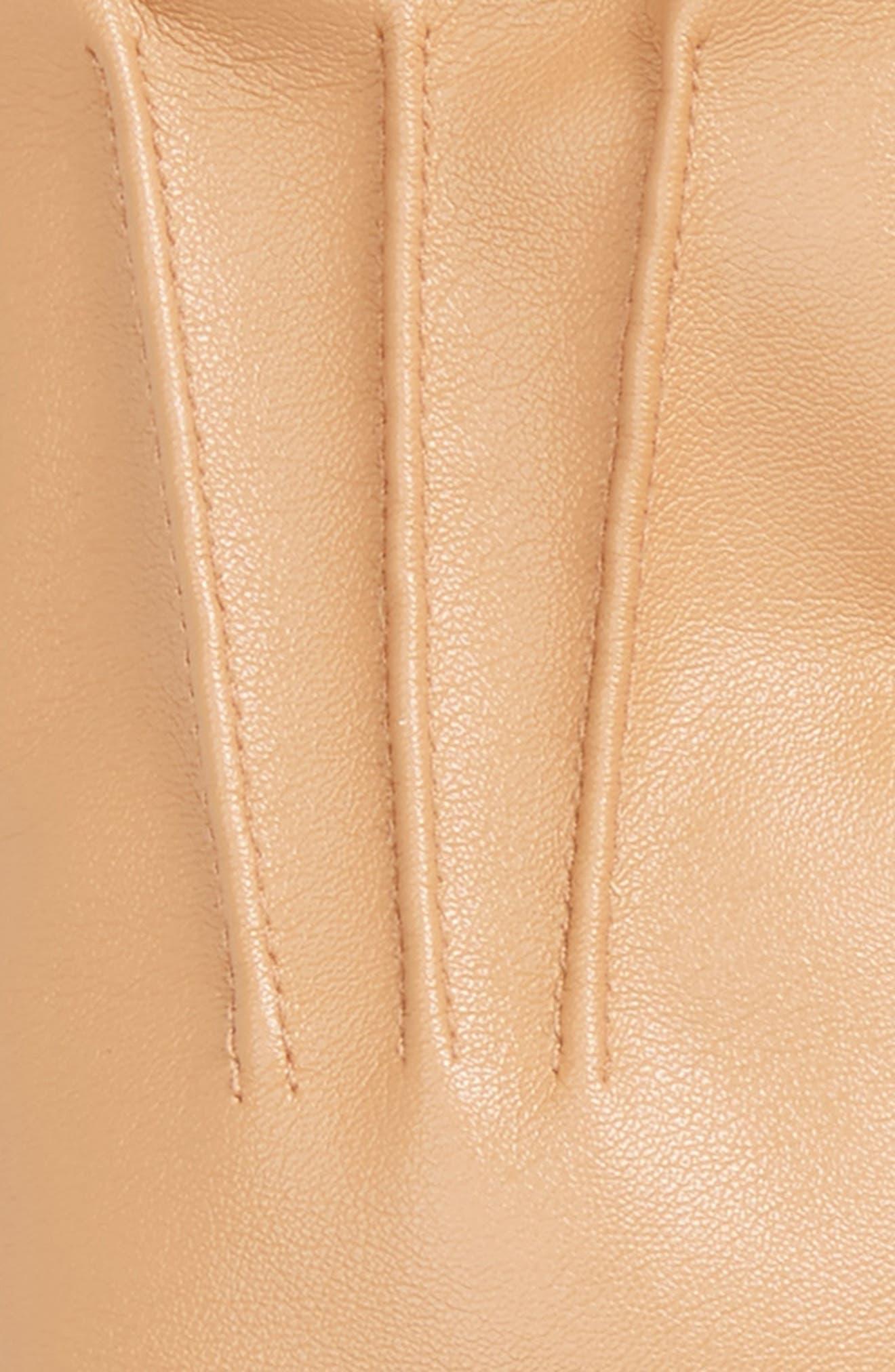 Faux Leather Gloves,                             Alternate thumbnail 6, color,