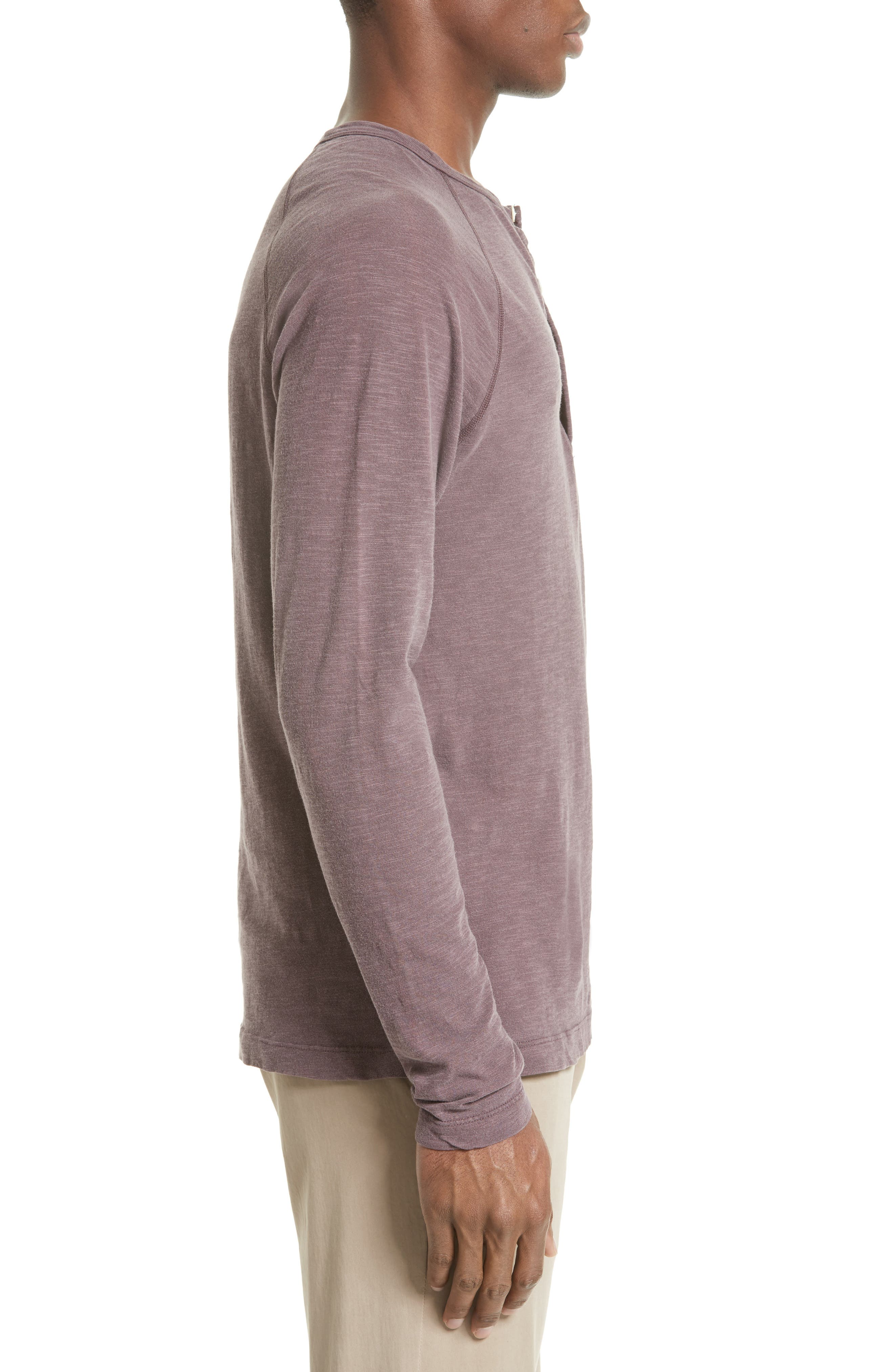 Long Sleeve Cotton Jersey Henley,                             Alternate thumbnail 9, color,
