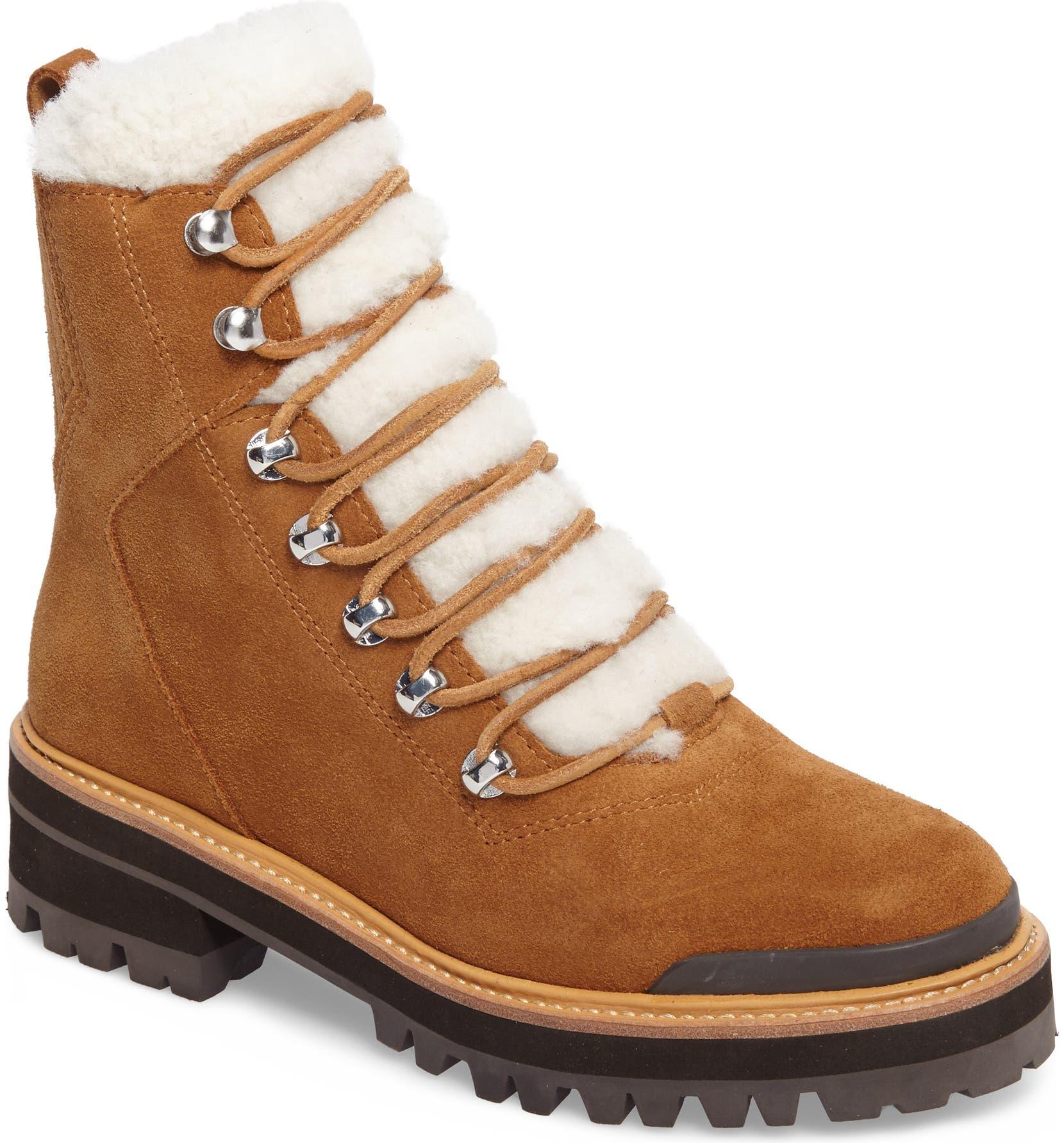 Marc Fisher LTD Izzie Genuine Shearling Lace-Up Boot (Women)  5fec6b597710