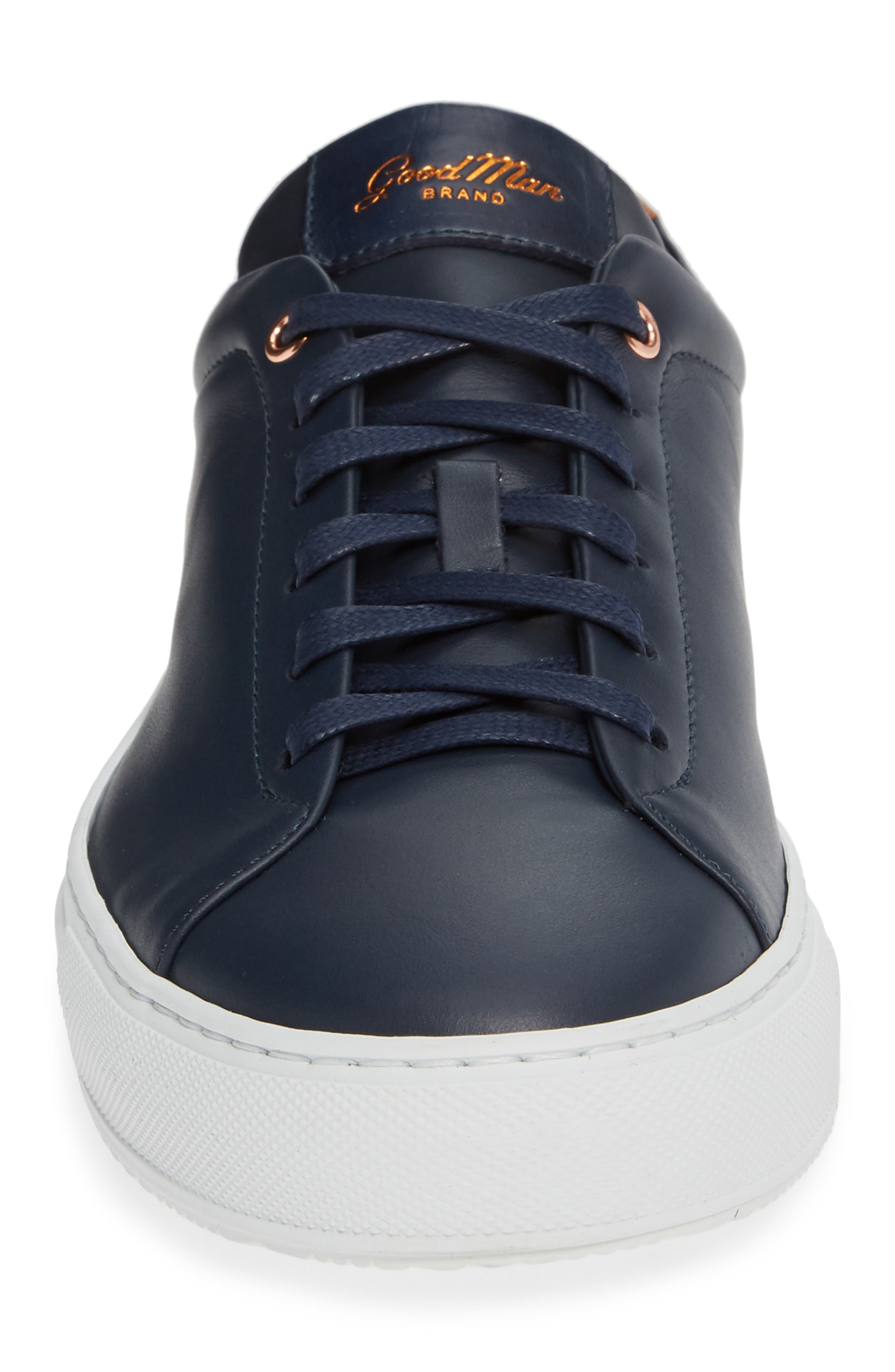 Edge Sneaker,                             Alternate thumbnail 4, color,                             NAVY LEATHER