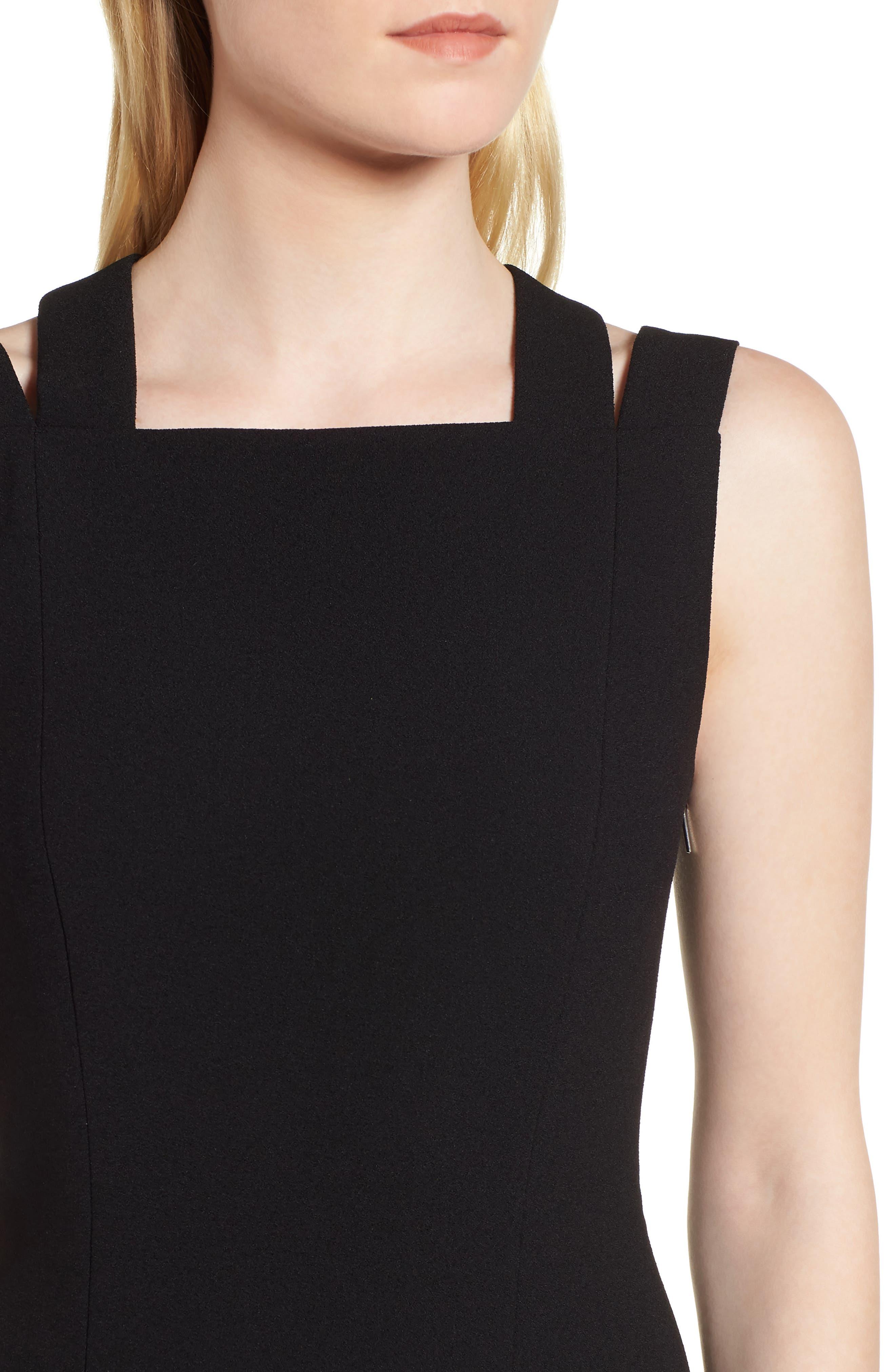 Daphima Compact Crepe Sheath Dress,                             Alternate thumbnail 4, color,