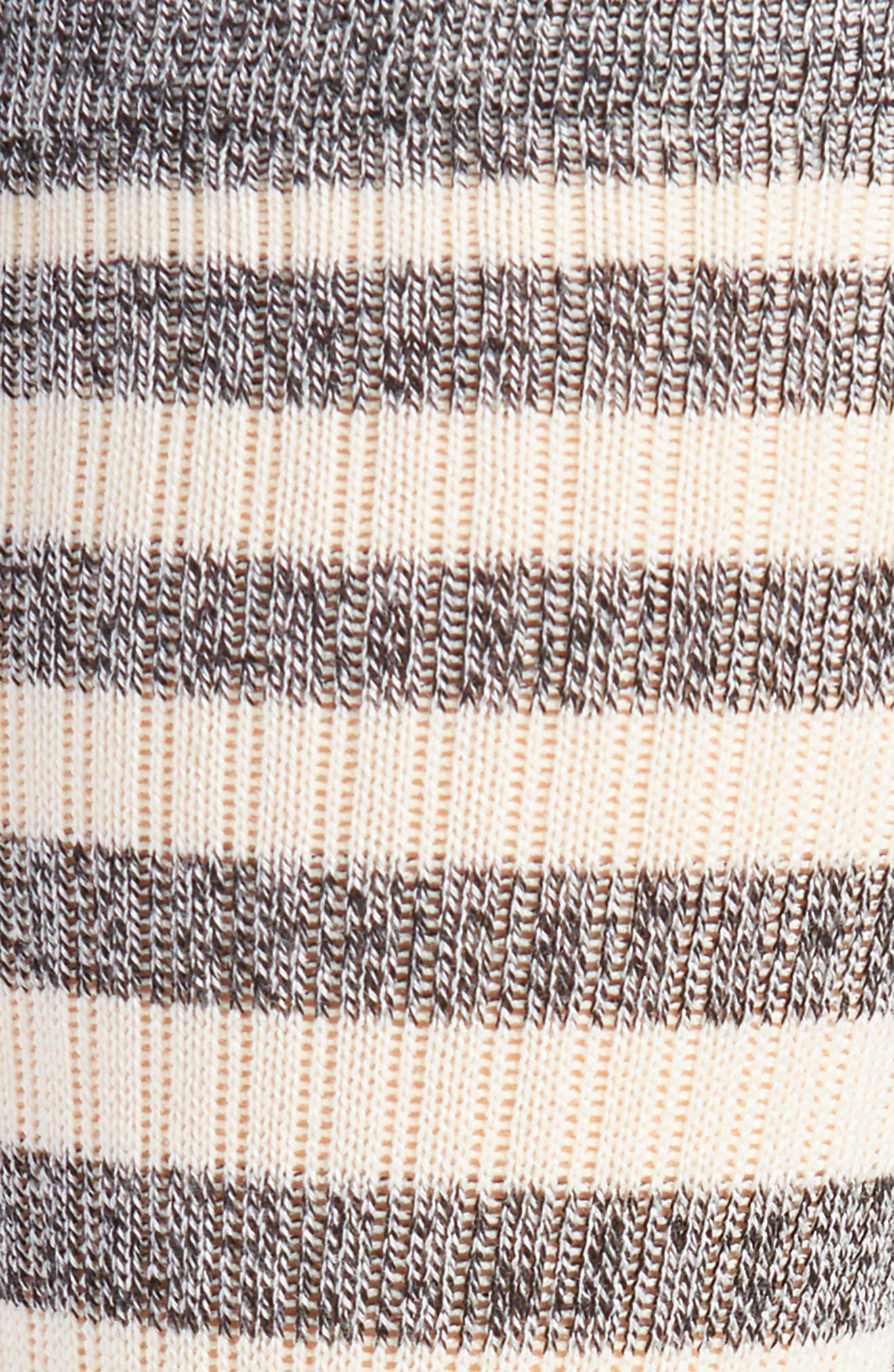 Honey Stripe Socks,                             Alternate thumbnail 2, color,                             BLACK