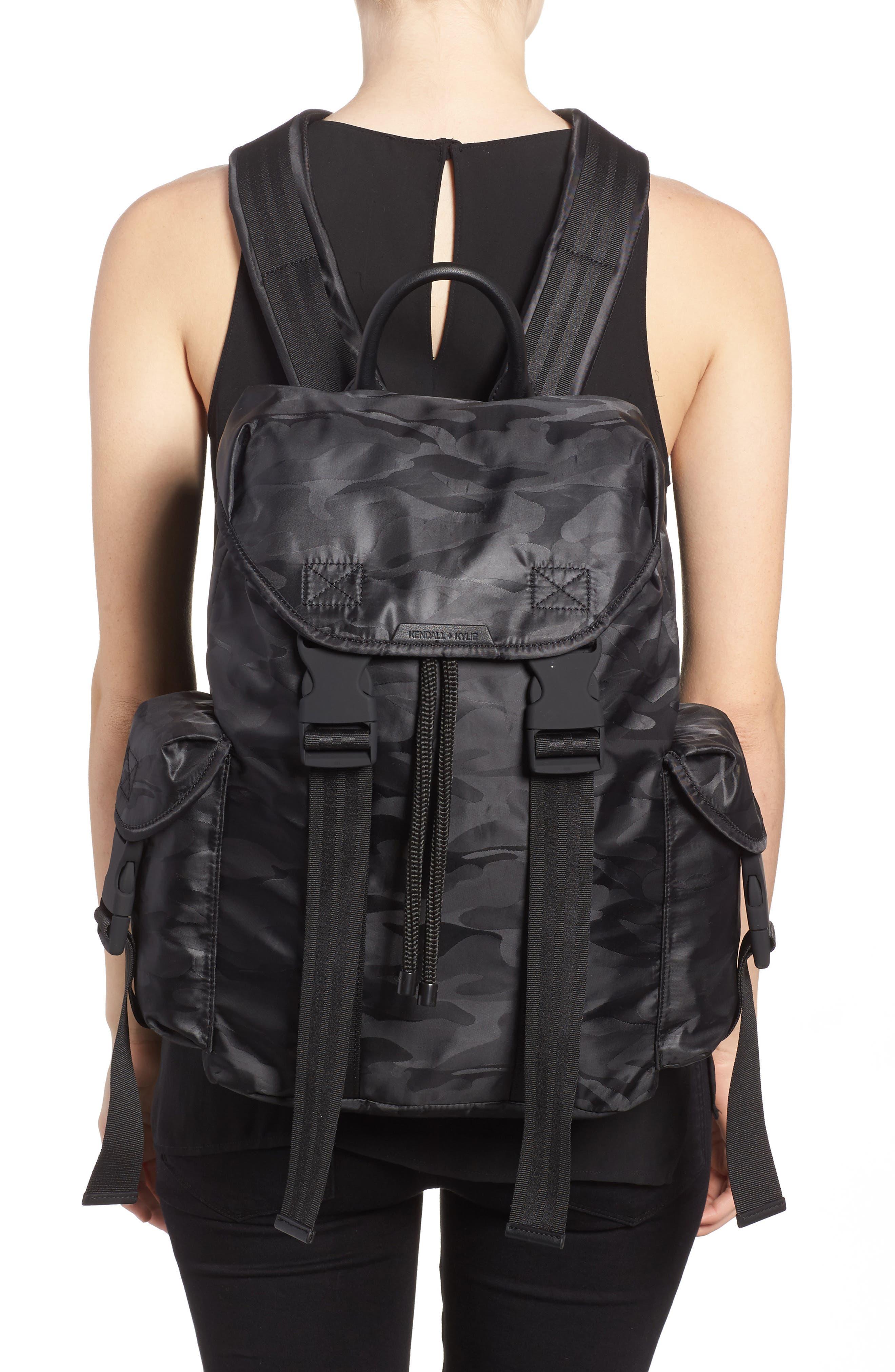 Jordyn Nylon Backpack,                             Alternate thumbnail 4, color,
