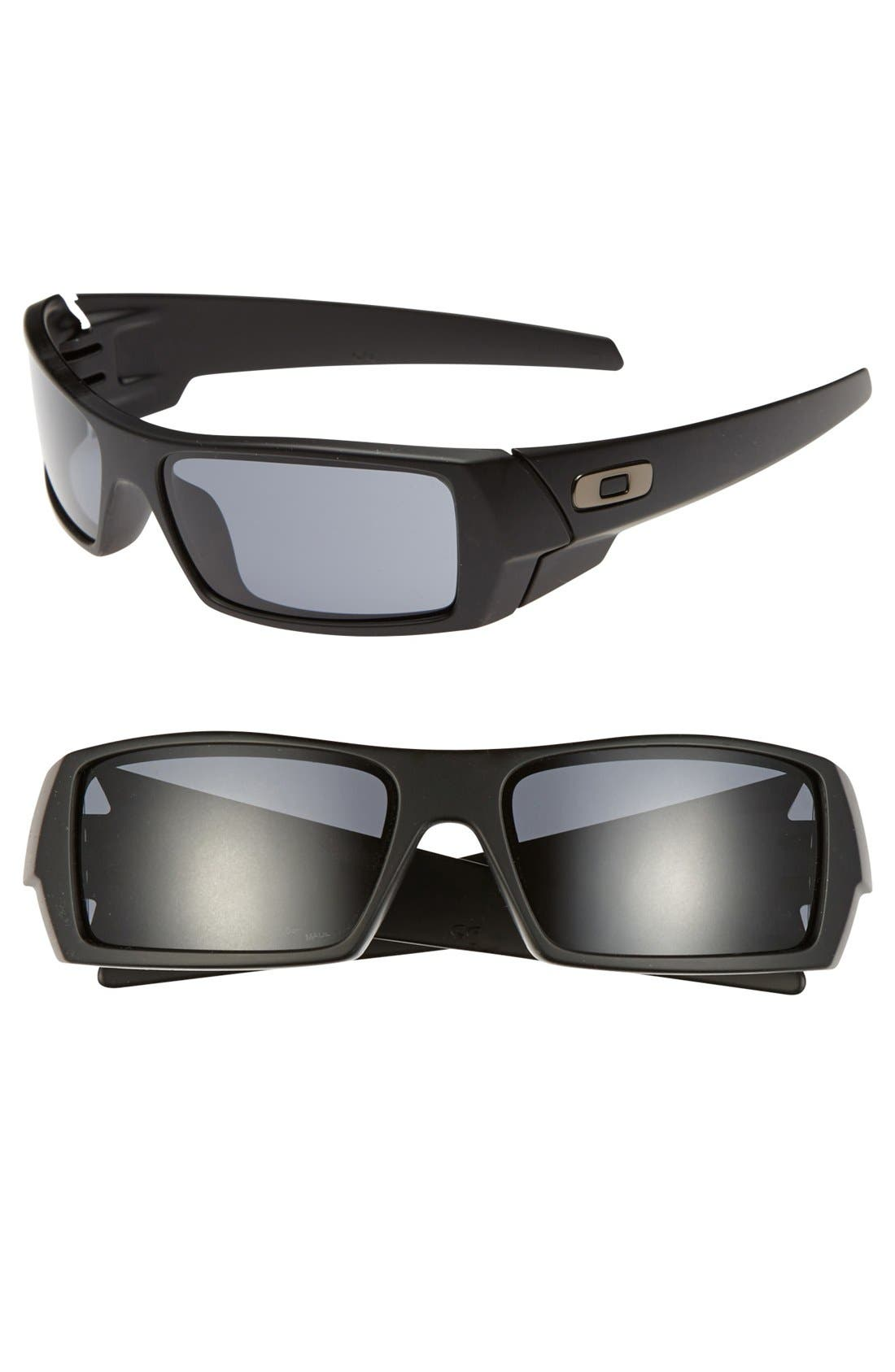 'Gascan' 60mm Sunglasses,                             Main thumbnail 1, color,                             MATTE BLACK/ GREY
