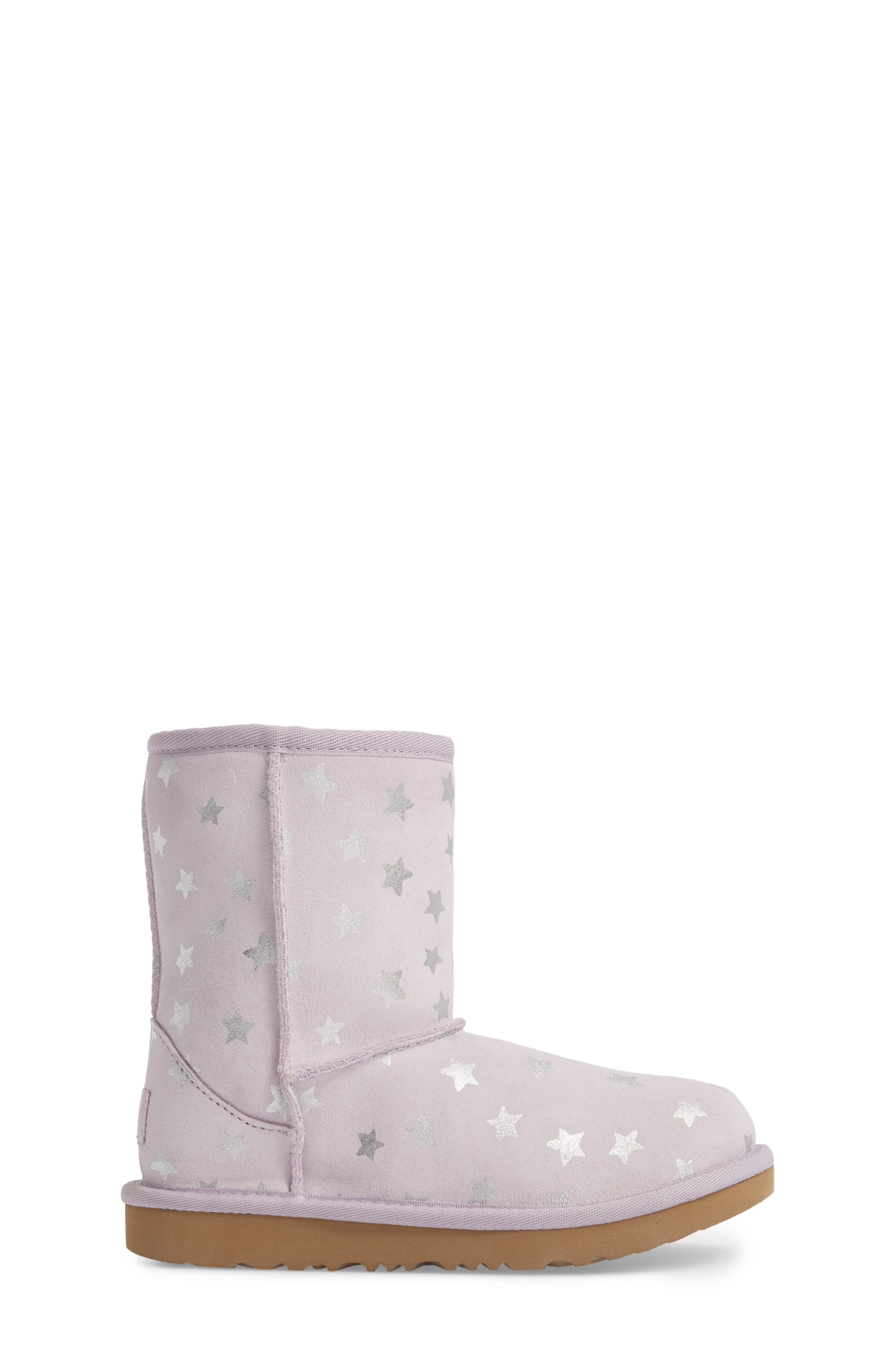 Classic Short II Water Resistant Stars Boot,                             Alternate thumbnail 3, color,                             LILAC
