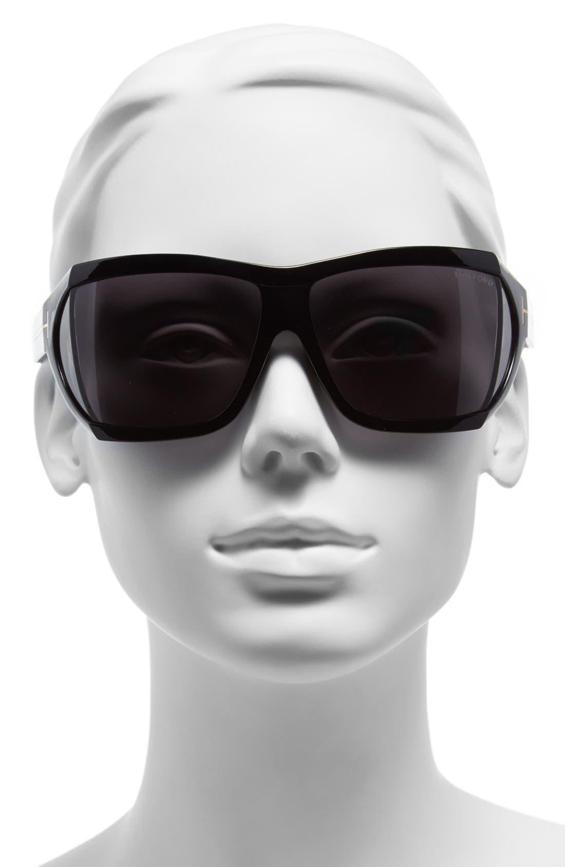 TOM FORD,                             'Sedgewick' 62mm Sunglasses,                             Alternate thumbnail 2, color,                             001