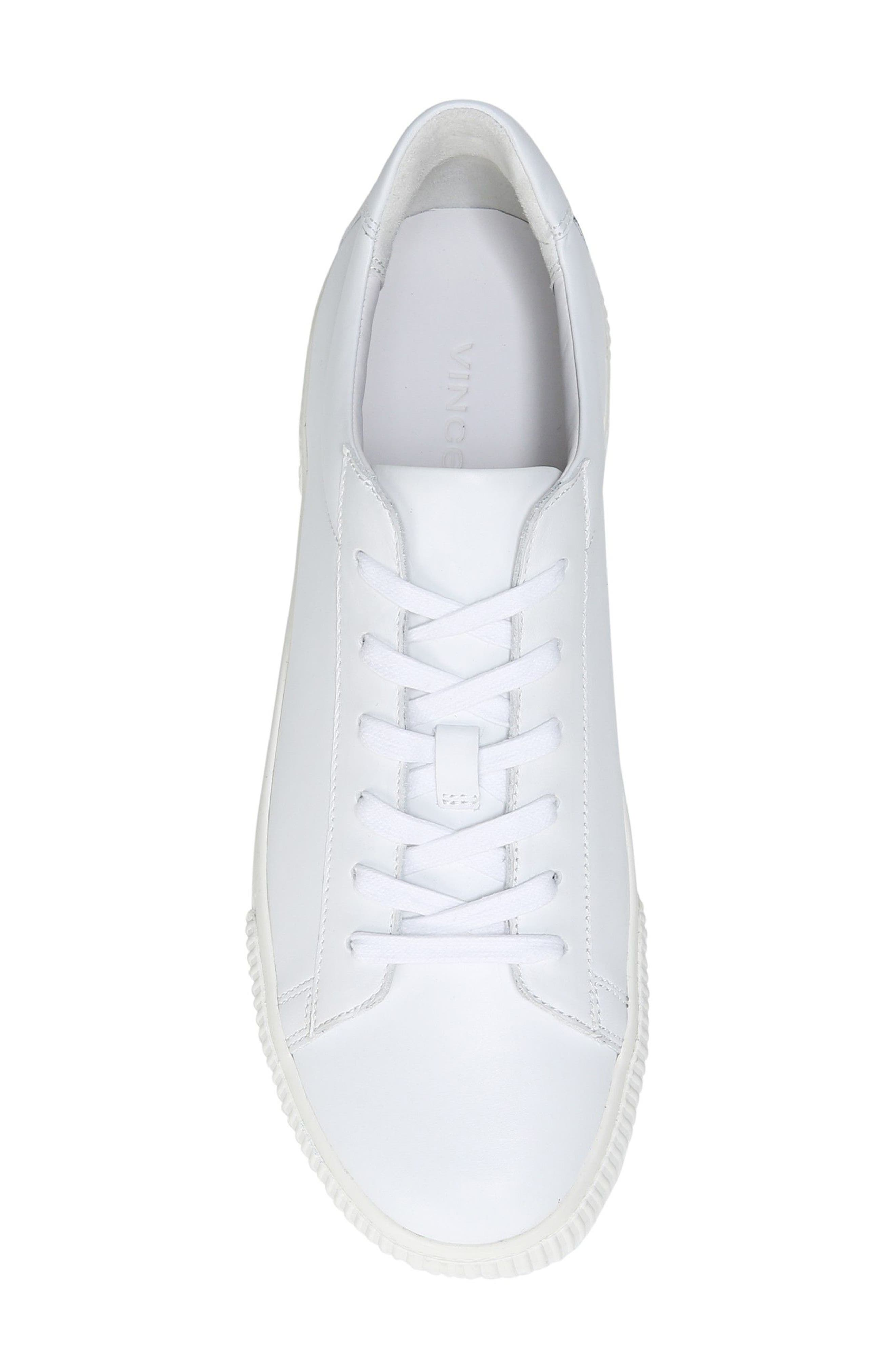 Kurtis Low Top Sneaker,                             Alternate thumbnail 5, color,                             WHITE
