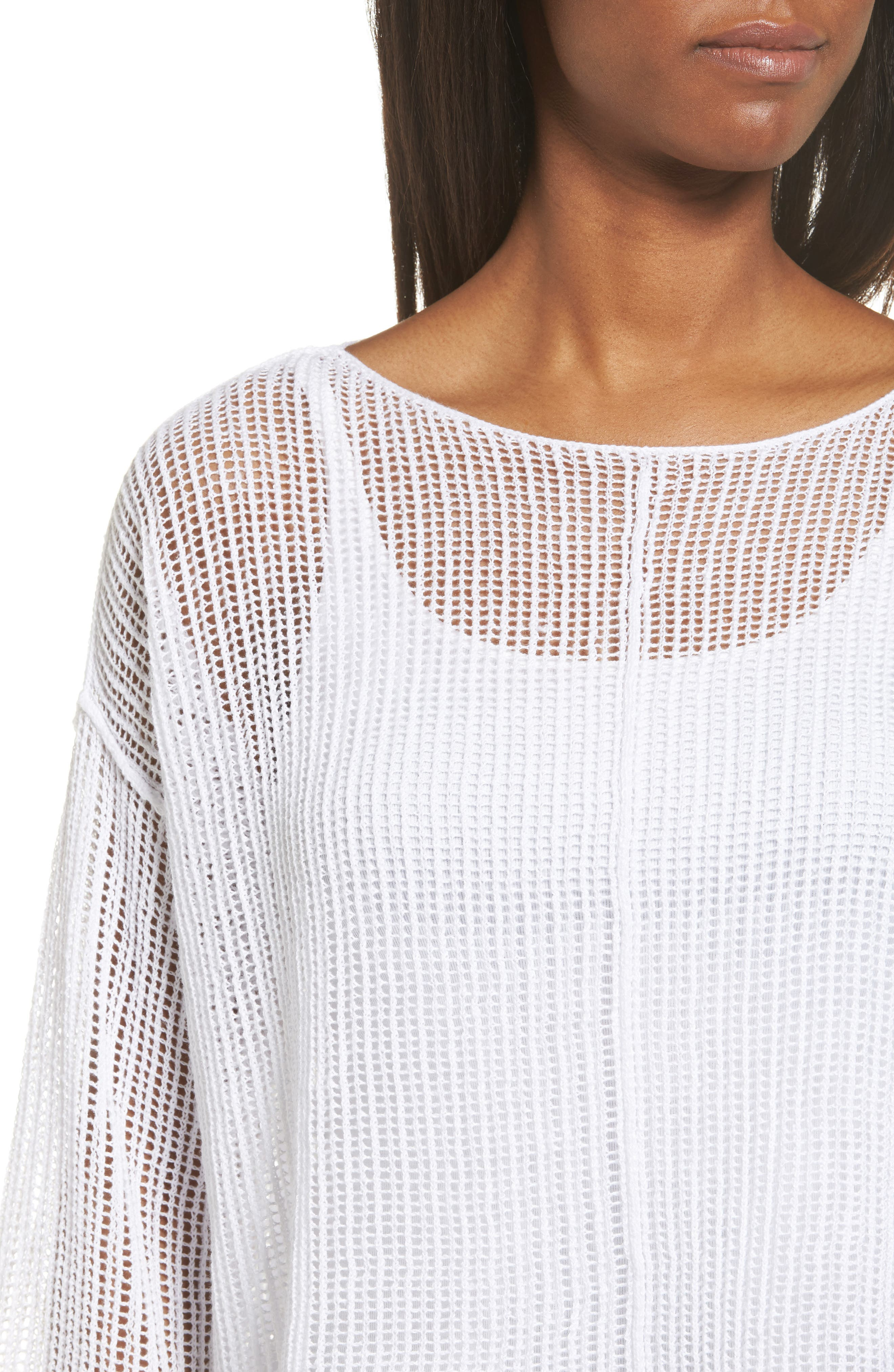 Organic Linen Crop Sweater,                             Alternate thumbnail 17, color,