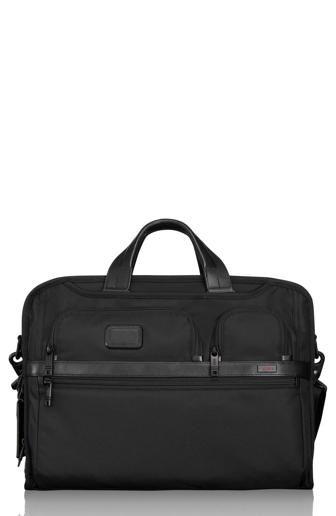 Alpha 2 Laptop Briefcase with Tumi ID Lock Pocket,                         Main,                         color, BLACK