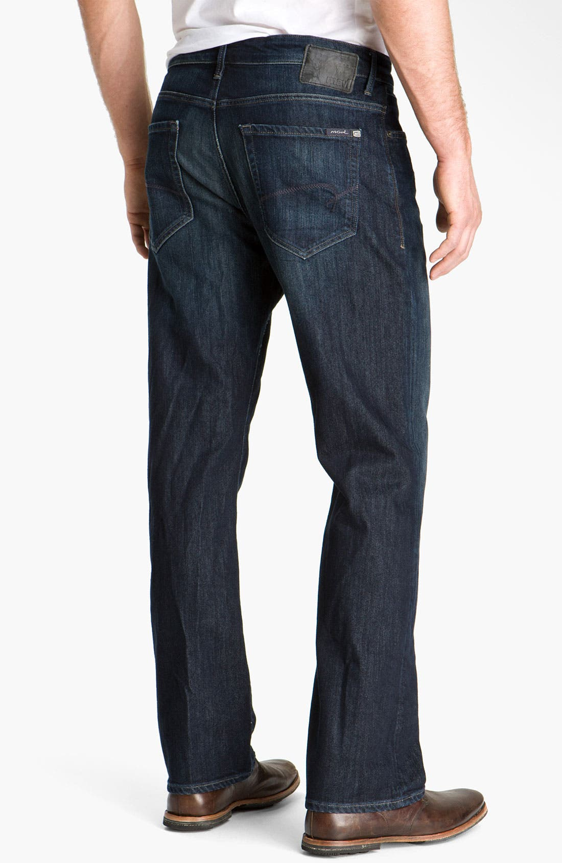 'Matt' Relaxed Fit Jeans,                             Alternate thumbnail 6, color,                             DEEP STANFORD COMFORT
