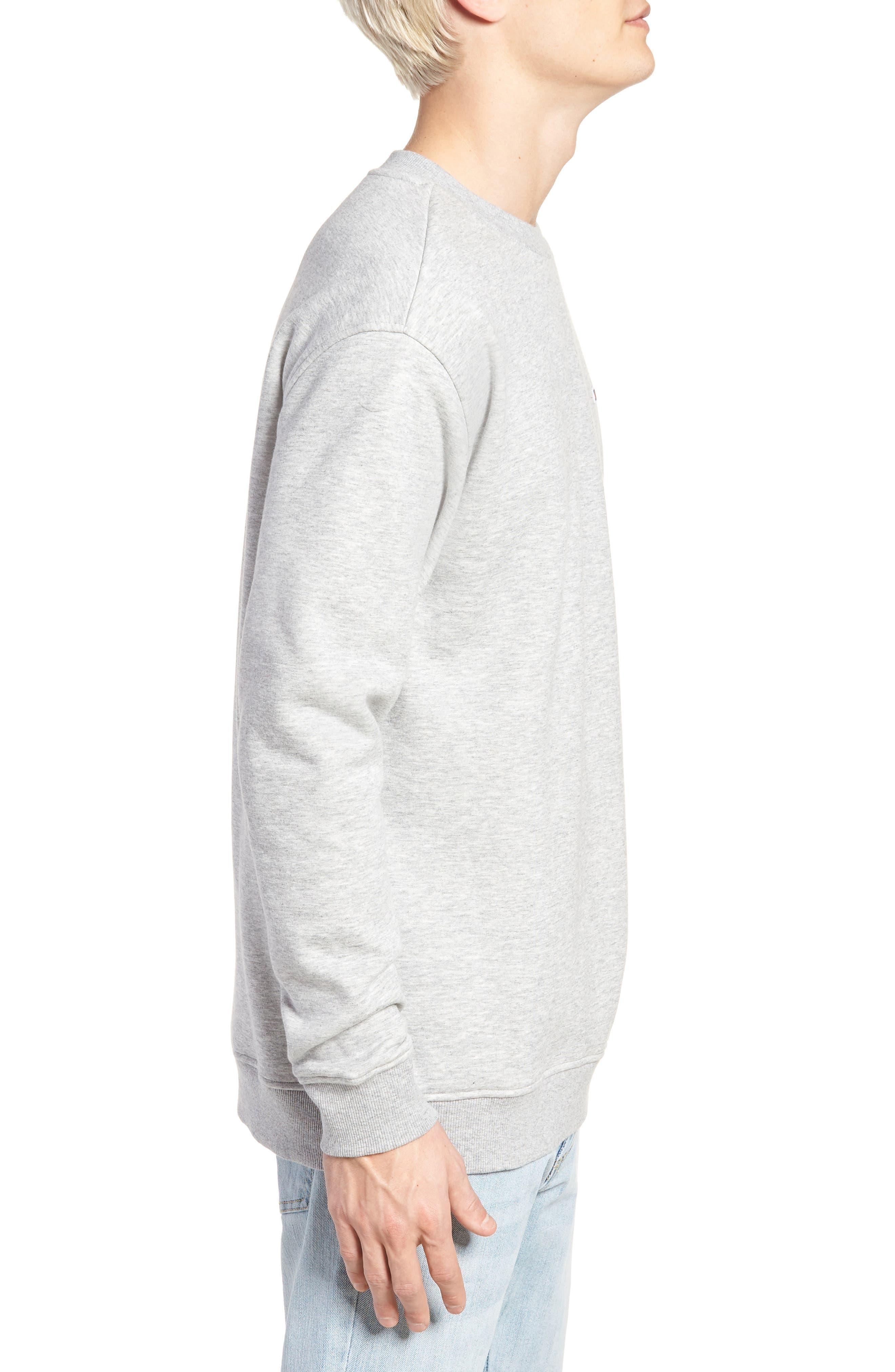 Tommy Classics Crewneck Sweatshirt,                             Alternate thumbnail 3, color,                             LIGHT GREY HEATHER