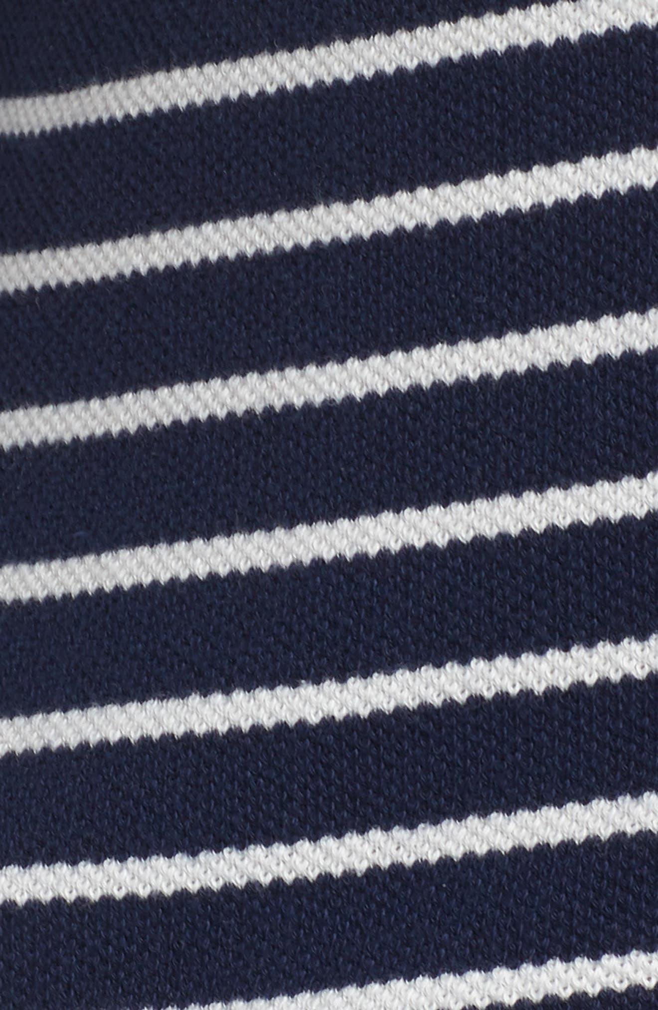 Stripe Peacoat Knit Jacket,                             Alternate thumbnail 7, color,                             410