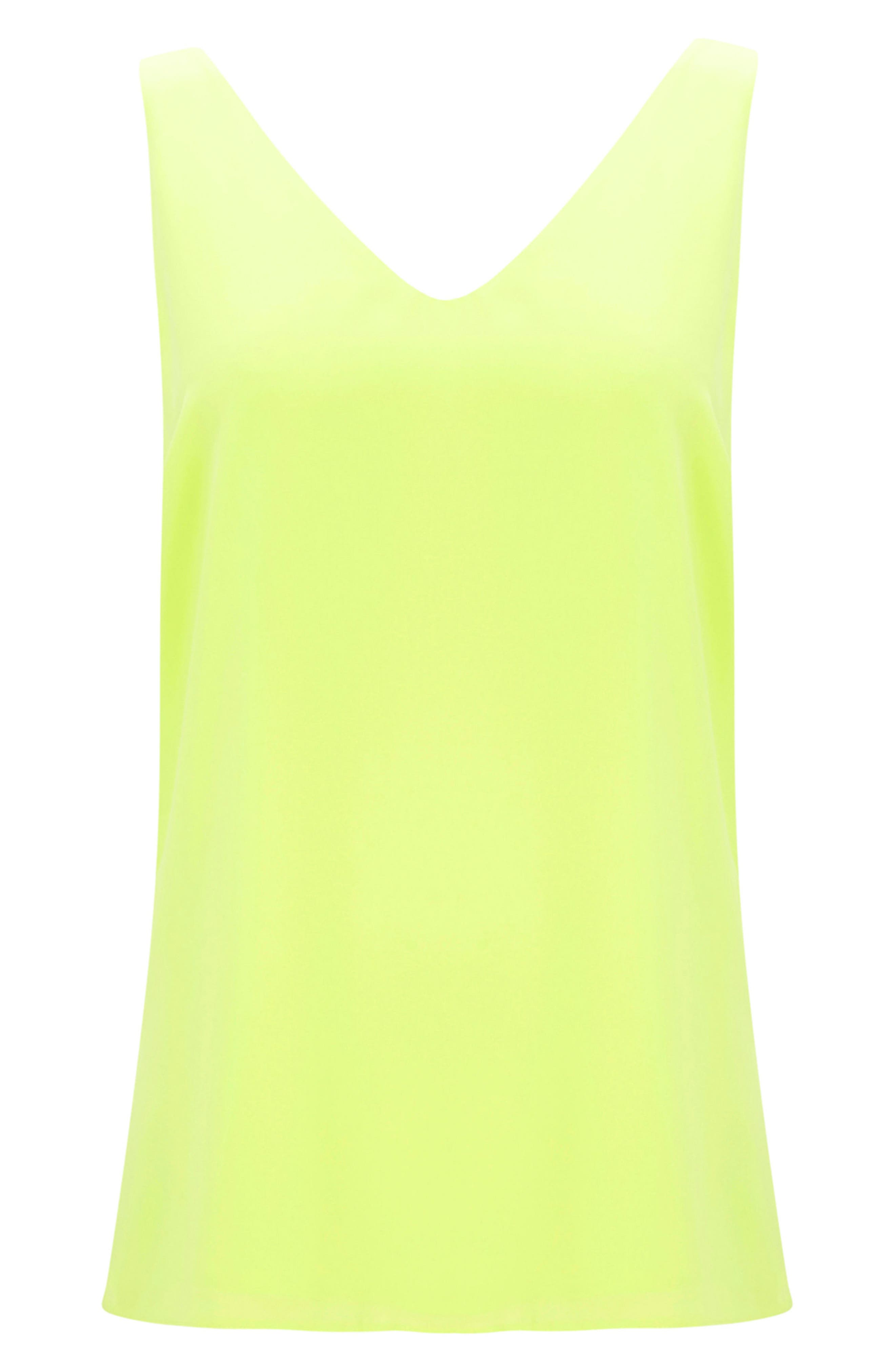 V-neck Camisole Top,                             Alternate thumbnail 4, color,                             LIME