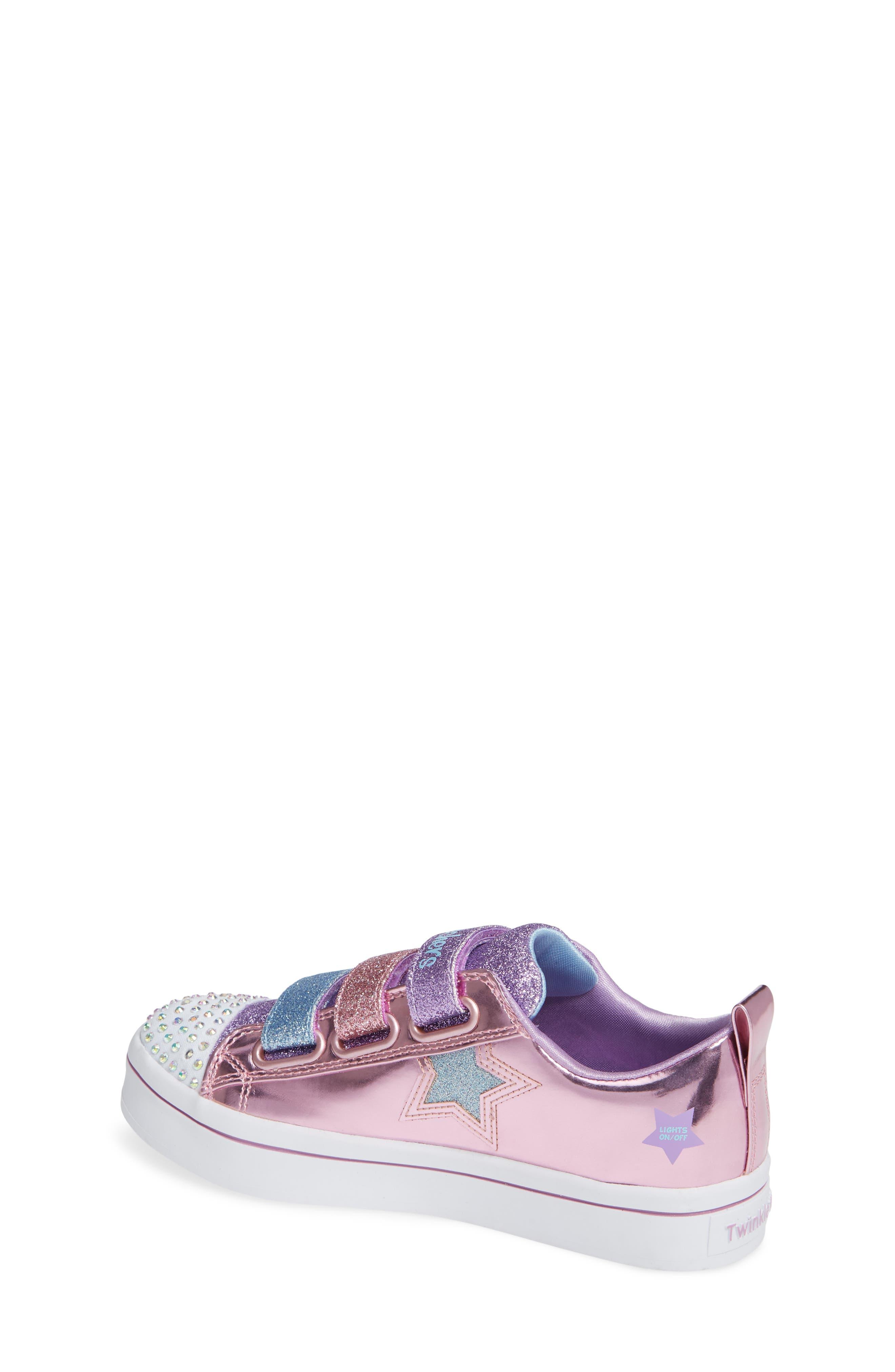Twi-Lites Star Light-Up Sneaker,                             Alternate thumbnail 2, color,                             PINK/ MULTI