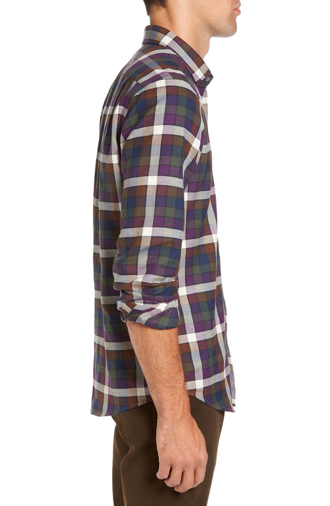 'Allister' Sports Fit Plaid Flannel Sport Shirt,                             Alternate thumbnail 4, color,                             503