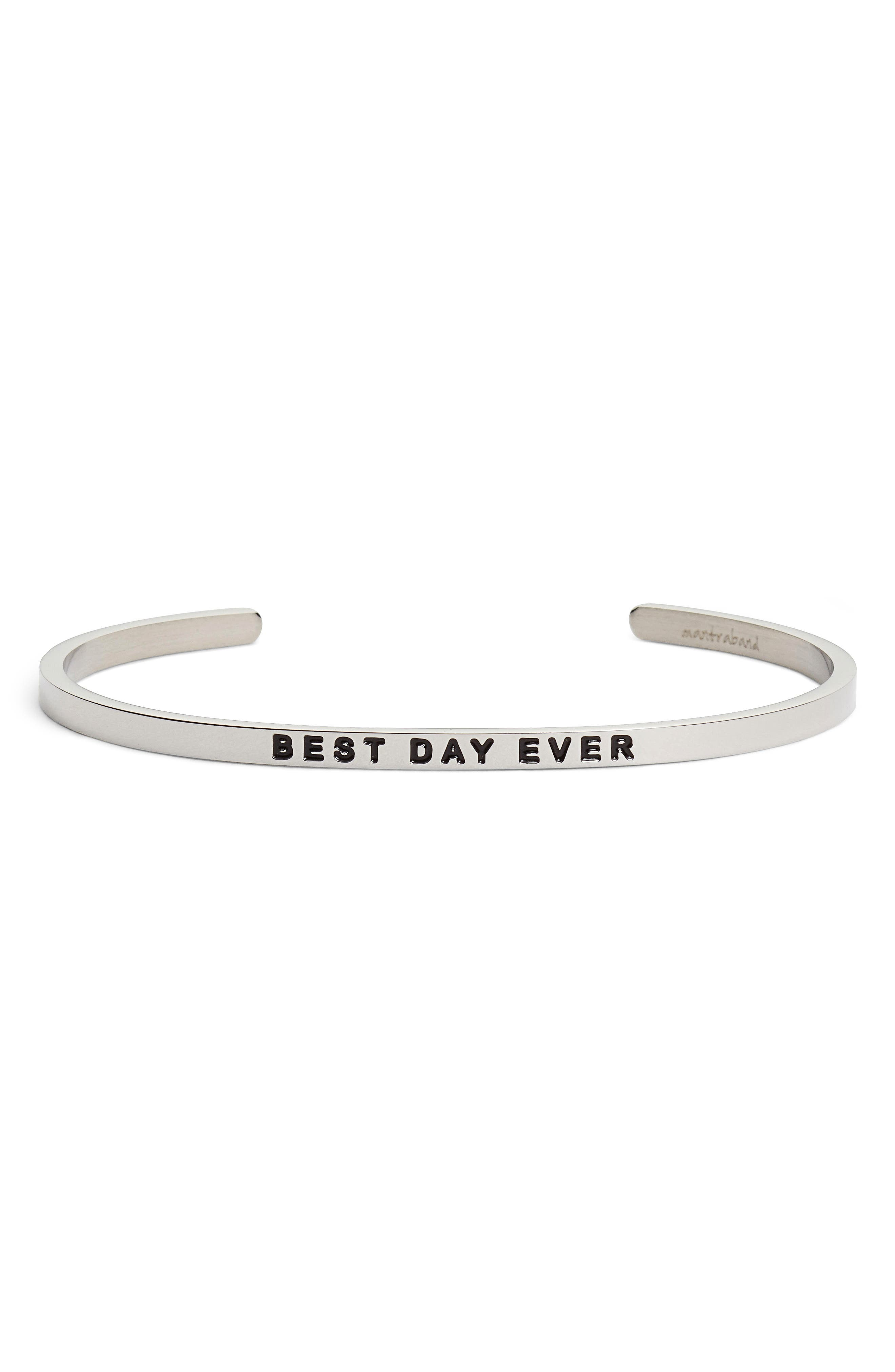 Best Day Ever Cuff,                             Main thumbnail 1, color,                             040
