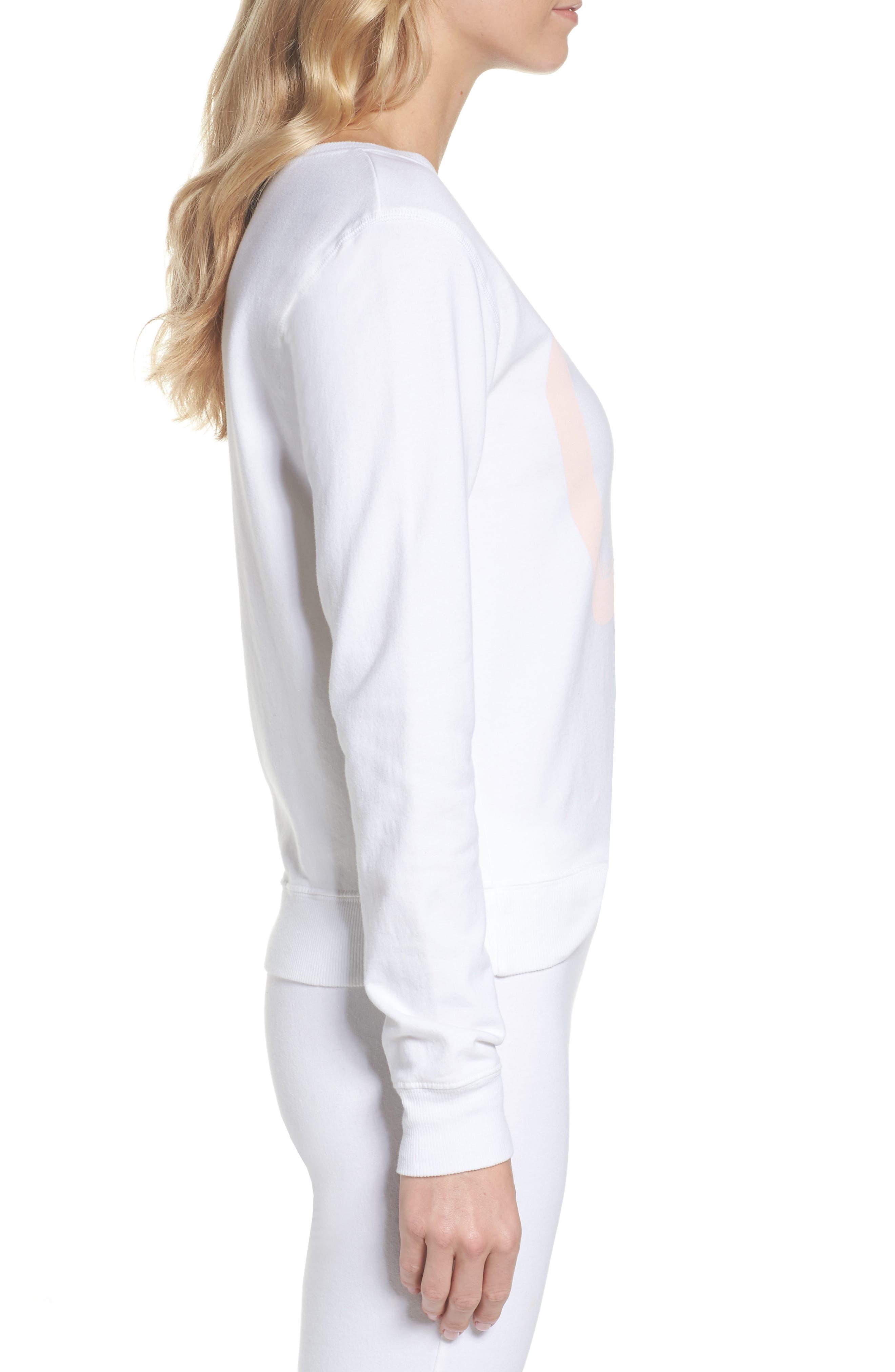 Lordes Fuzzy Fleece Sweatshirt,                             Alternate thumbnail 3, color,                             100