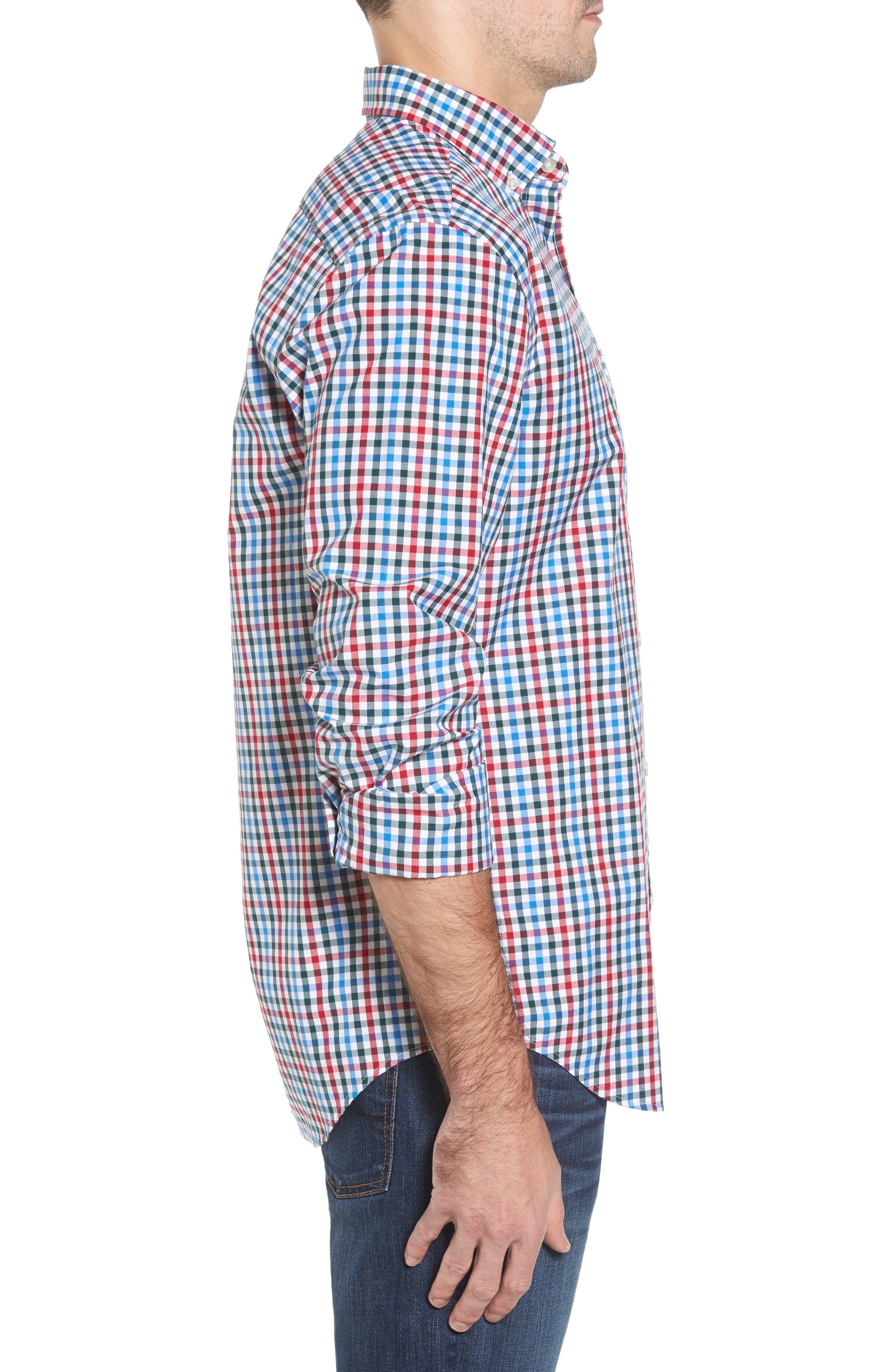 Higgins Beach Classic Fit Gingham Sport Shirt,                             Alternate thumbnail 3, color,                             620