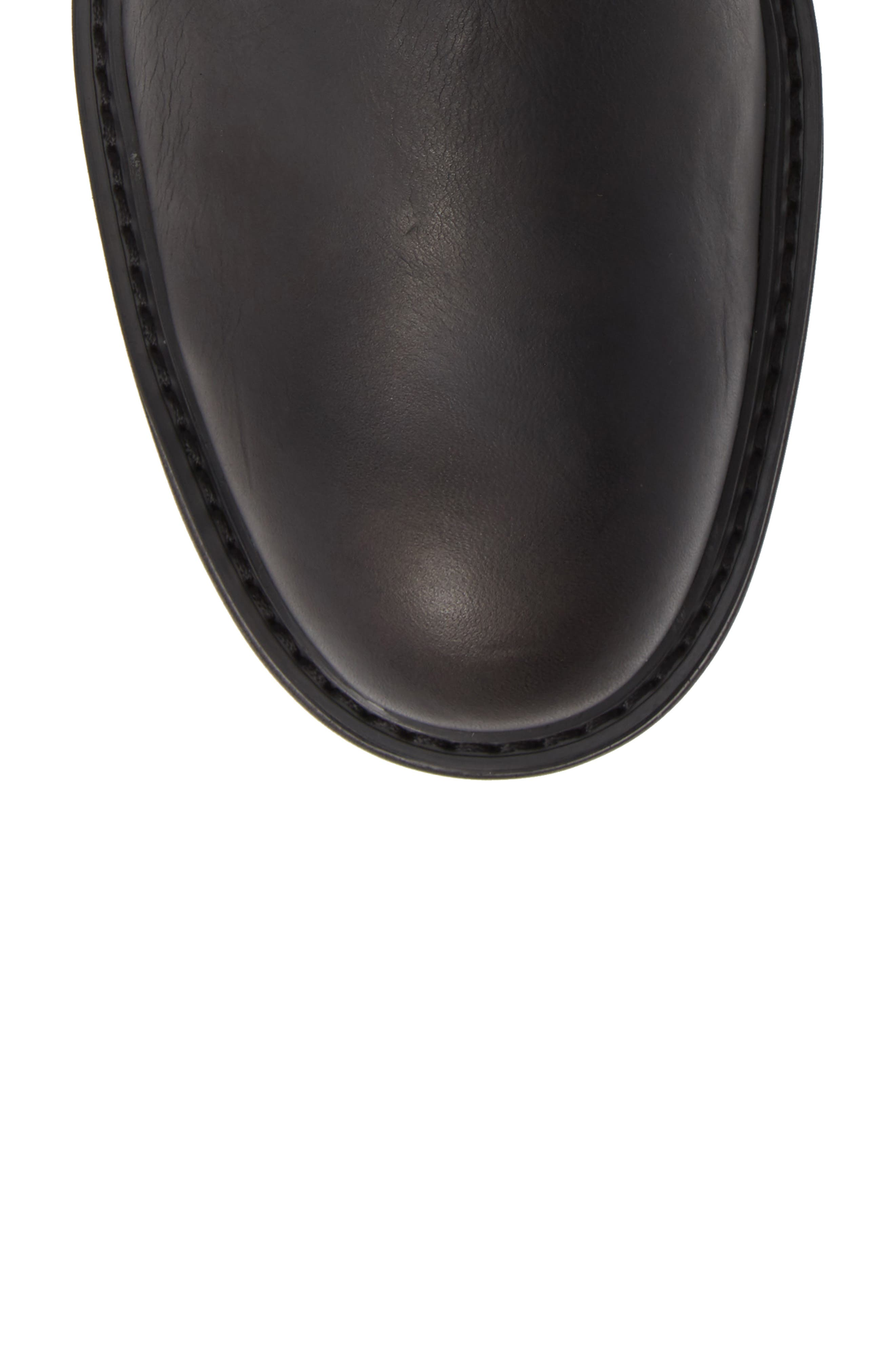 Cooper Moto Buckle Boot,                             Alternate thumbnail 5, color,                             MINERAL BLACK LEATHER