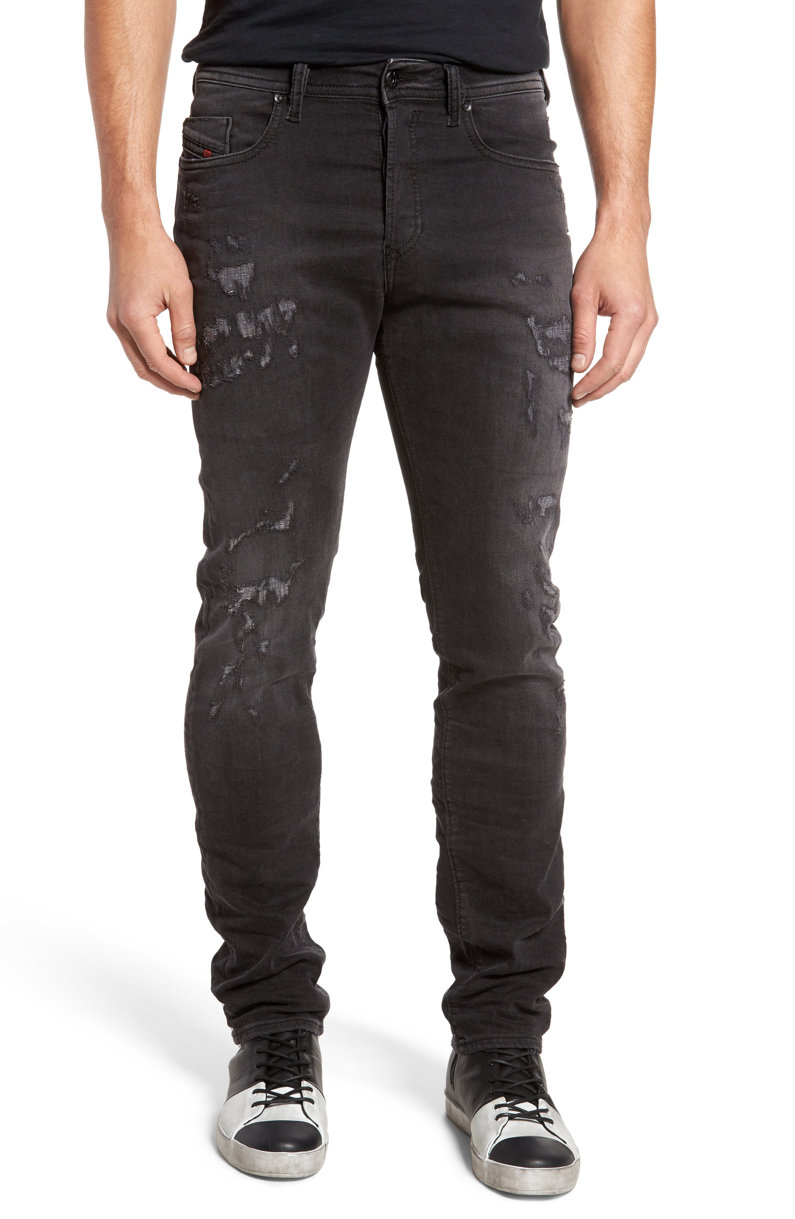 Buster Slim Straight Fit Jeans,                             Main thumbnail 1, color,                             008