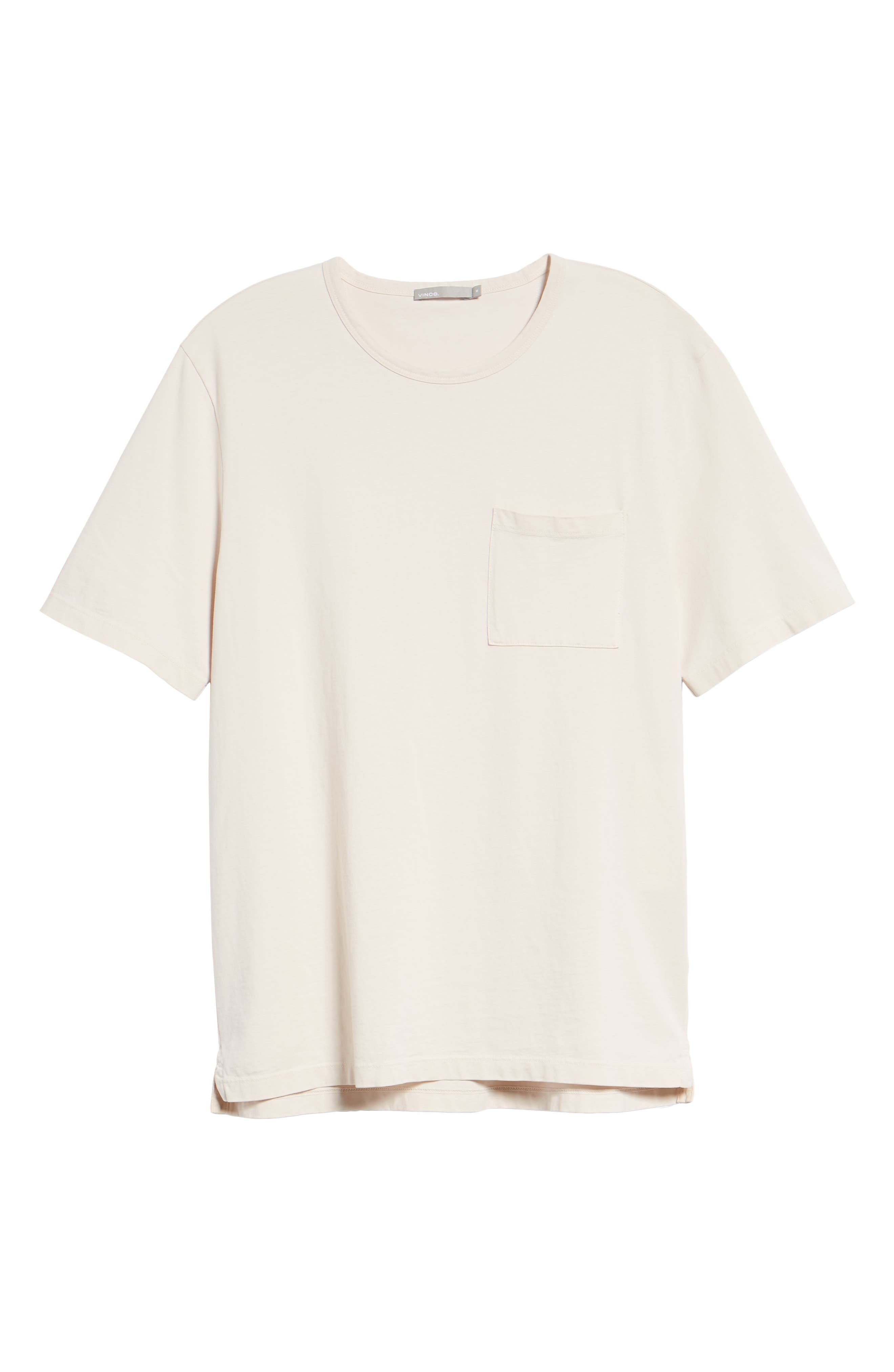 Regular Fit Garment Dye Pocket T-Shirt,                             Alternate thumbnail 6, color,                             SAIL
