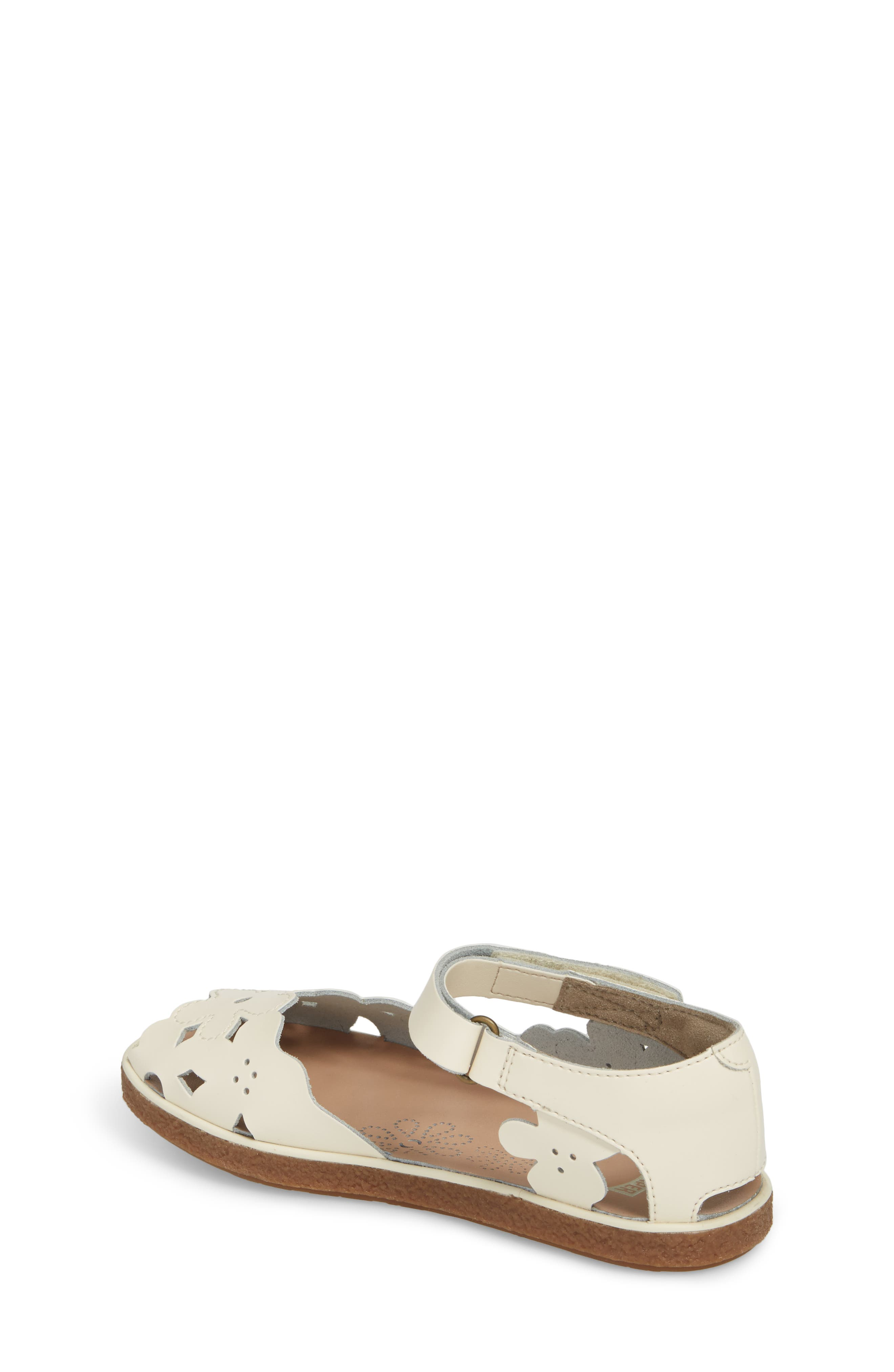 Twins Perforated Sandal,                             Alternate thumbnail 2, color,                             WHITE