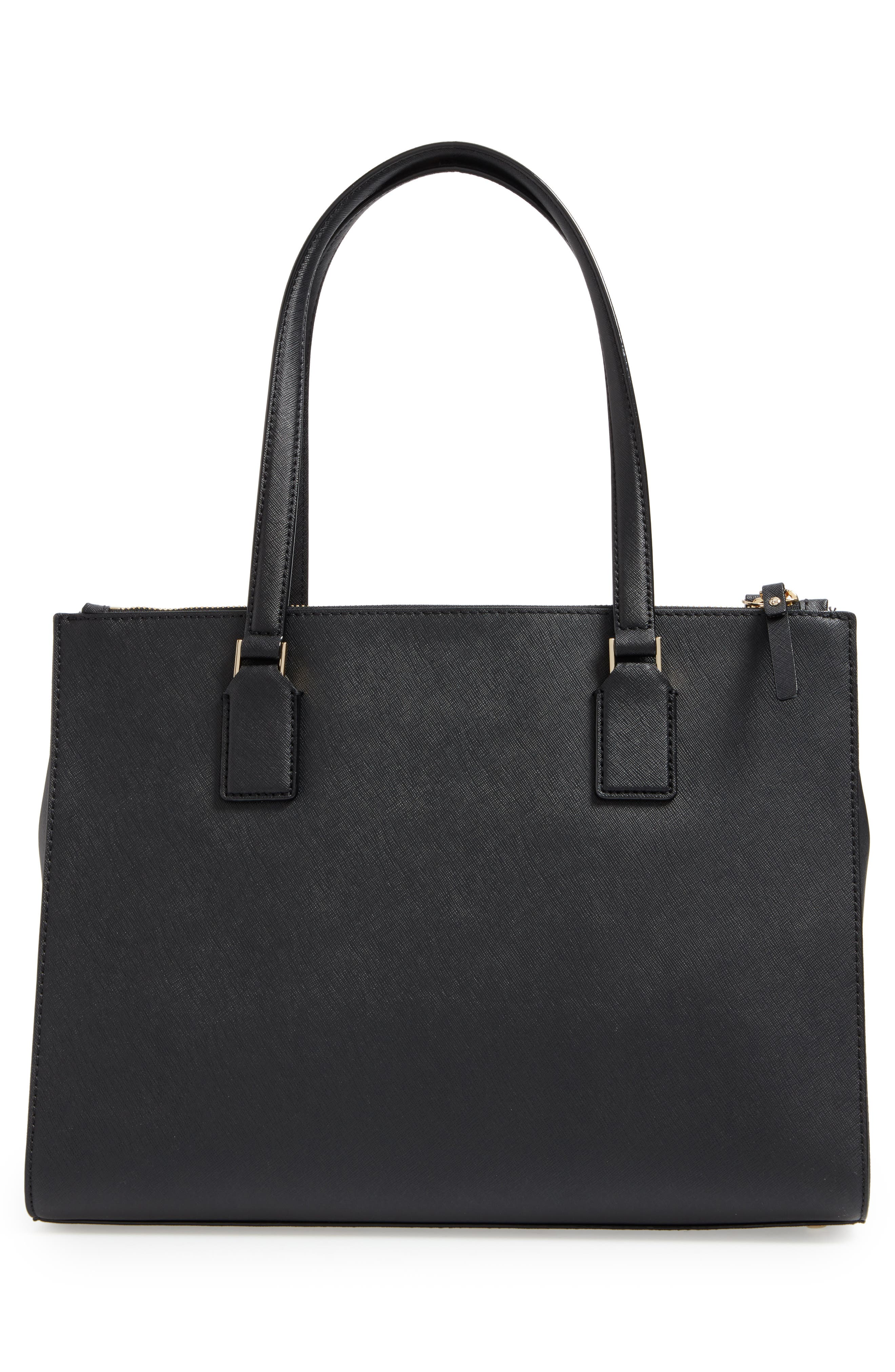 cameron street - jensen leather tote,                             Alternate thumbnail 3, color,                             001