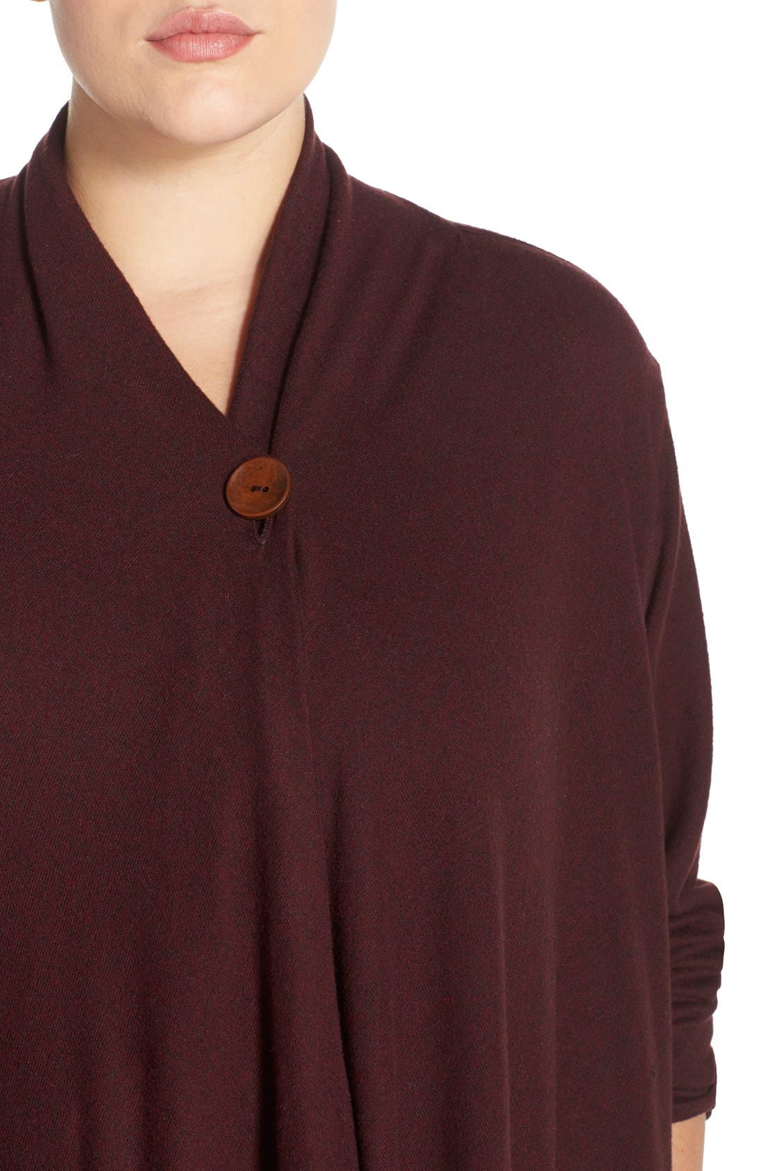 One-Button Fleece Cardigan,                             Alternate thumbnail 188, color,