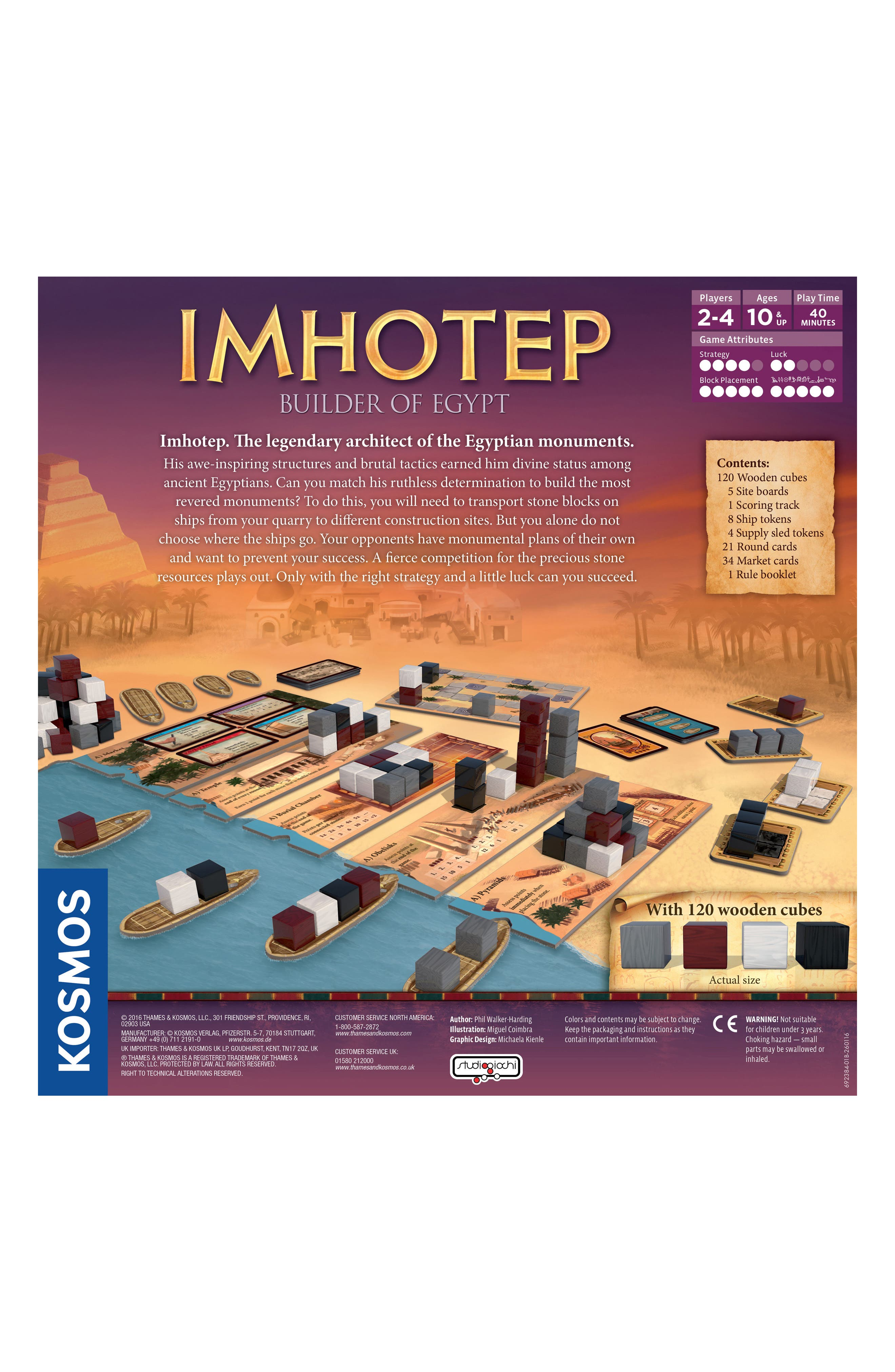 Imhotep - Builder of Egypt Board Game,                             Alternate thumbnail 2, color,                             NO COLOR